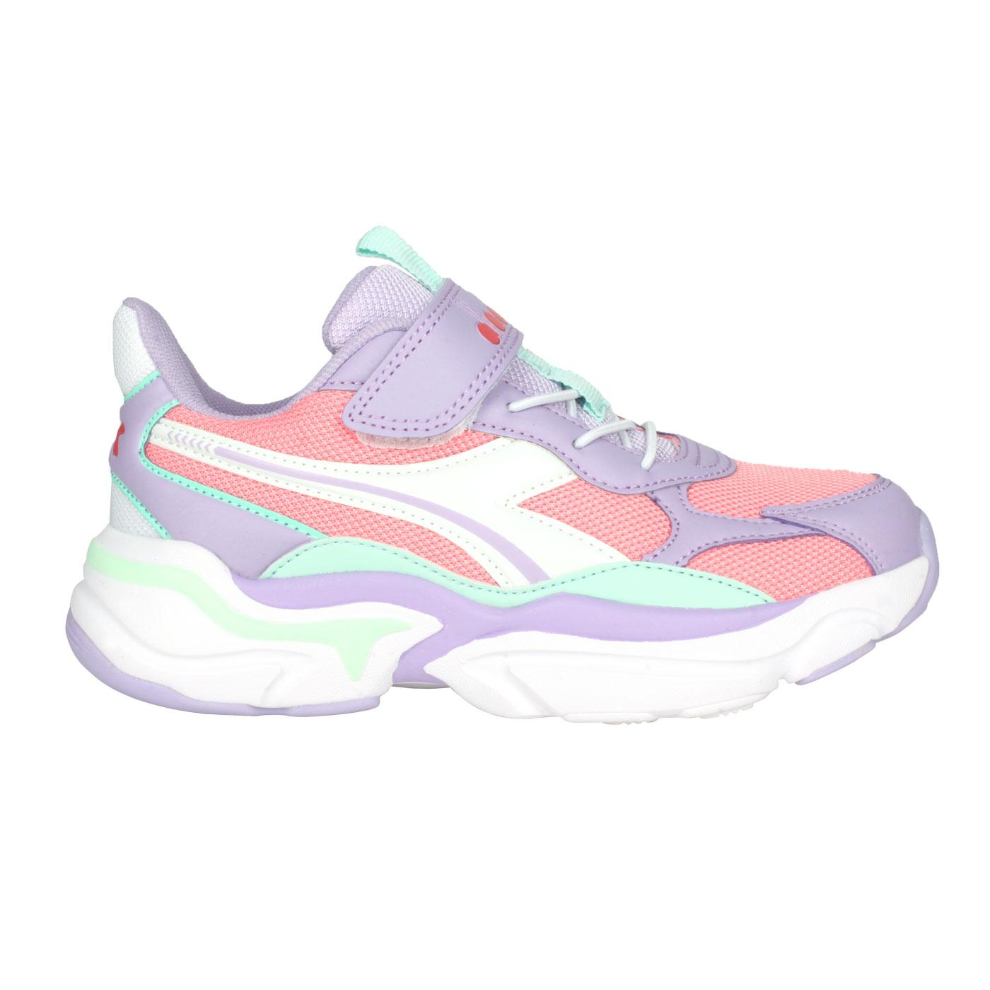 DIADORA 中童運動生活時尚鞋-超寬楦 DA13055 - 紫粉綠白