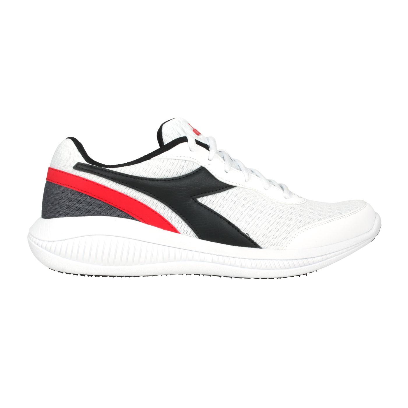DIADORA 男款原廠進口慢跑鞋 DA176888-C8021 - 白黑紅