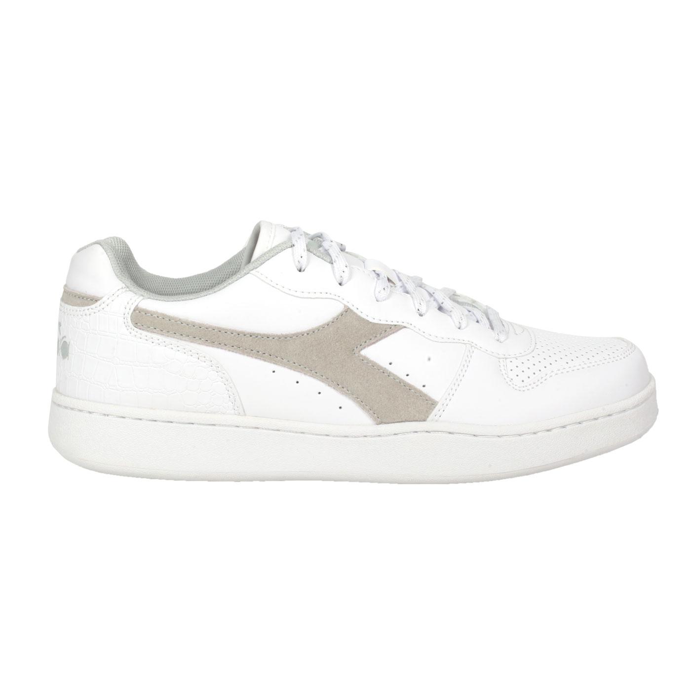 DIADORA 女款進口復古網球鞋 DA176999-C0341 - 白棕綠