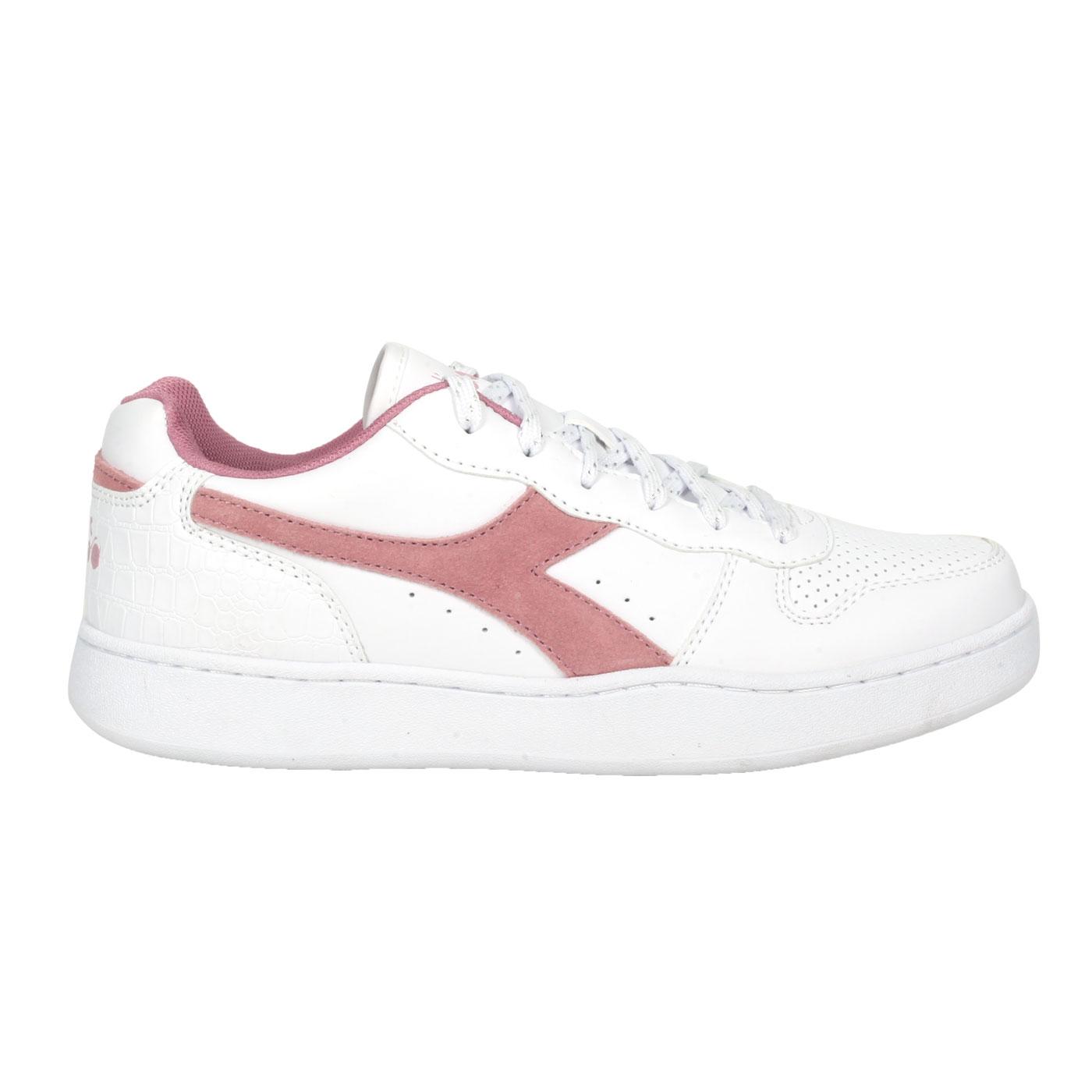 DIADORA 女款進口復古網球鞋 DA176999-C9017 - 白紫紅