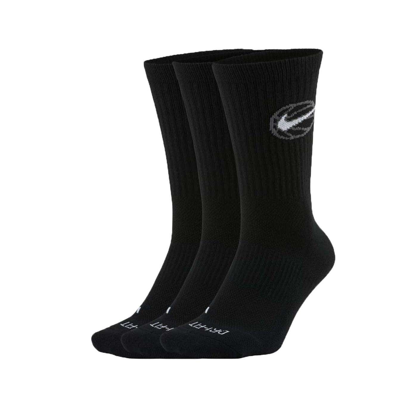 NIKE 襪子 DA2123-010 - 黑白灰