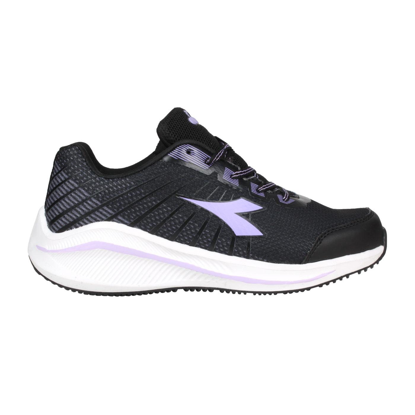 DIADORA 女款專業輕量慢跑鞋 DA31629 - 黑粉紫
