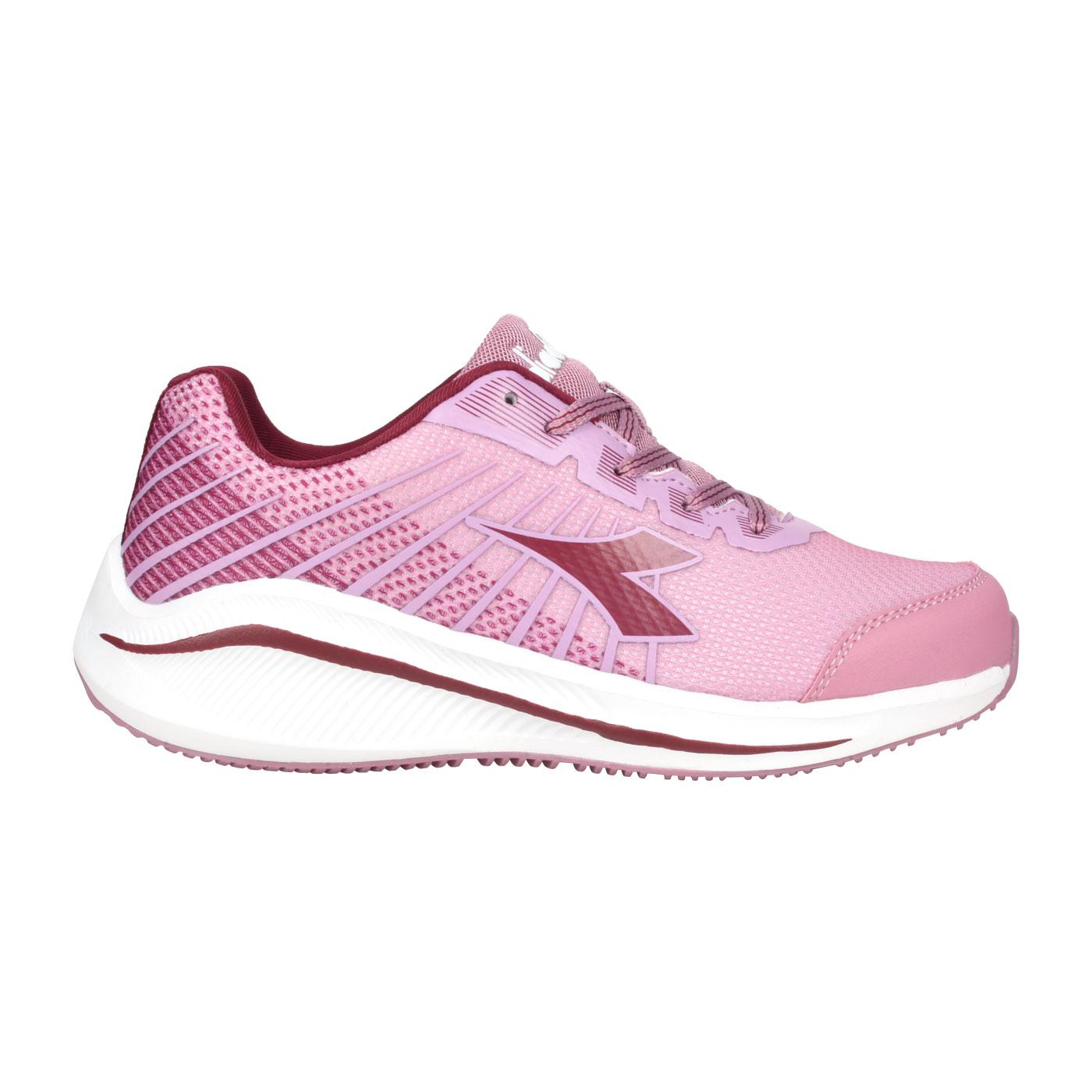 DIADORA 女款專業輕量慢跑鞋 DA31630 - 藕粉深紫