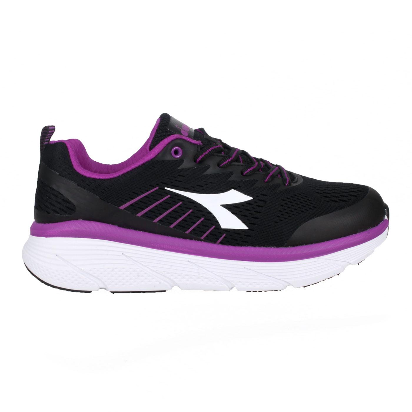 DIADORA 女款專業避震慢跑鞋 DA31636 - 黑紫