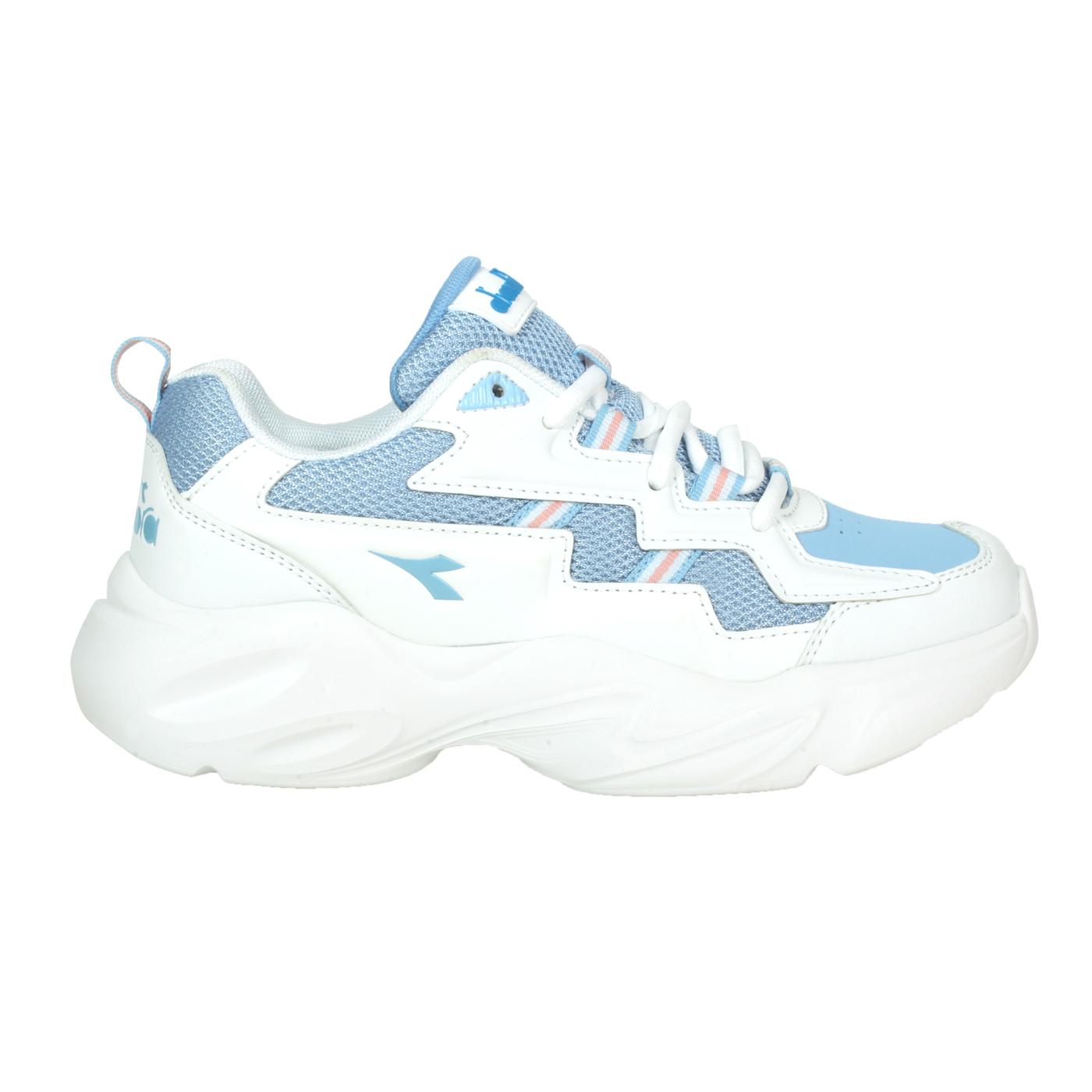 DIADORA 女款運動鞋 DA31657 - 白水藍粉