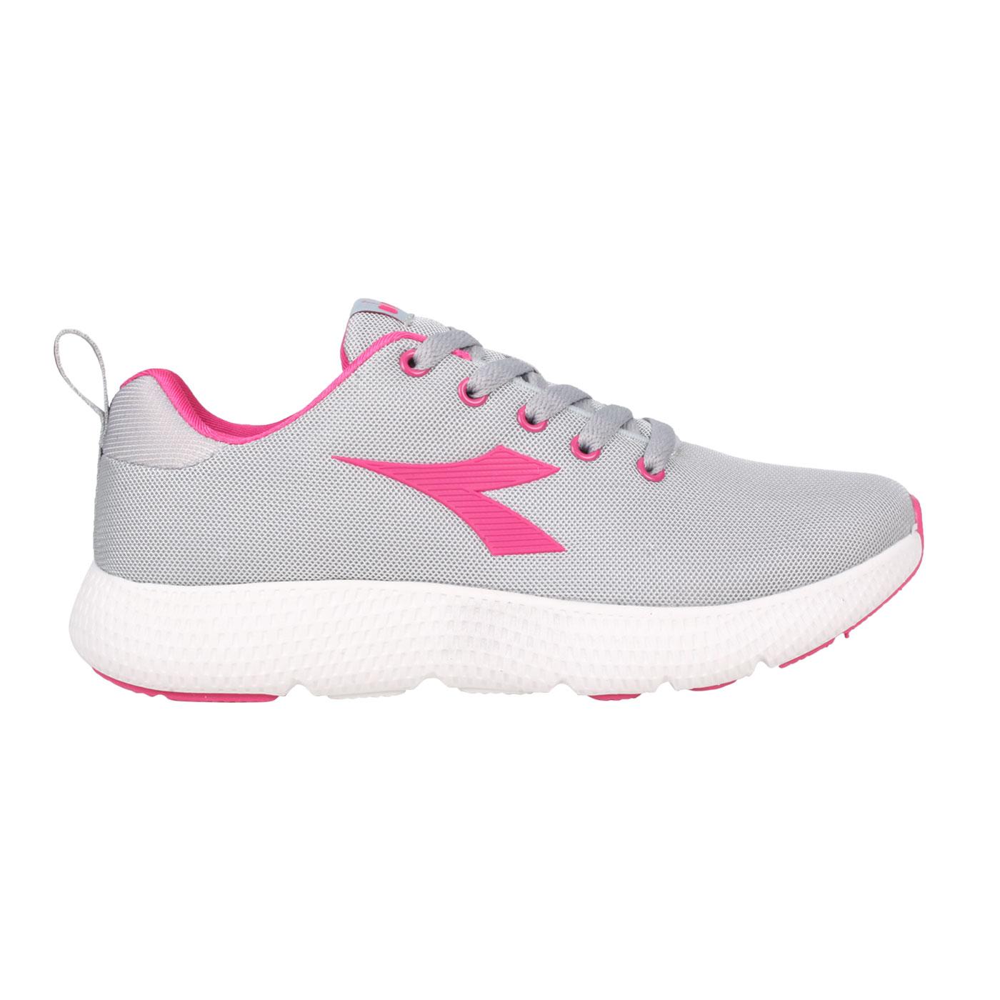DIADORA 女款專業輕量慢跑鞋 DA31659 - 灰桃紅