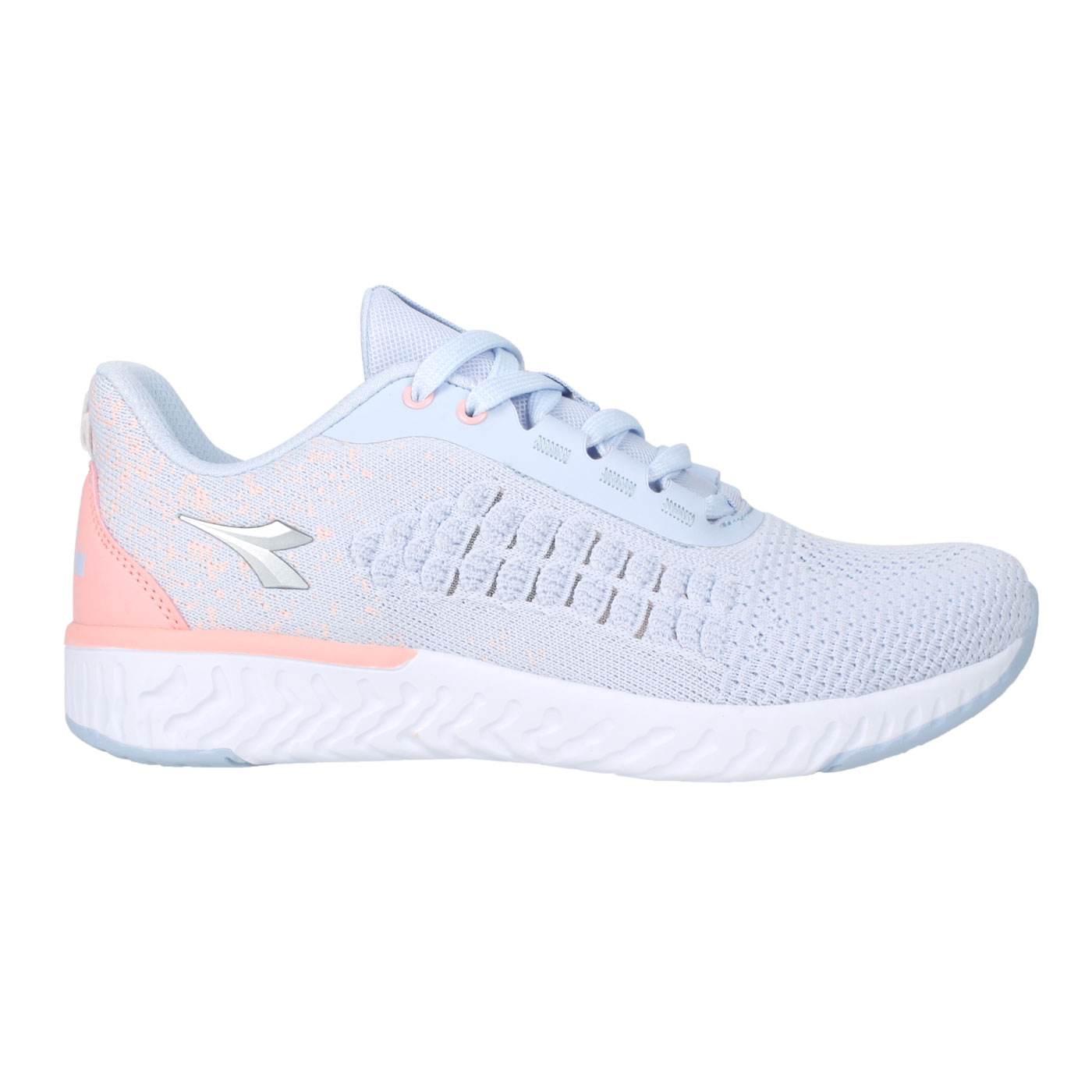 DIADORA 女款輕量慢跑鞋-寬楦 DA33610 - 淡紫粉橘銀