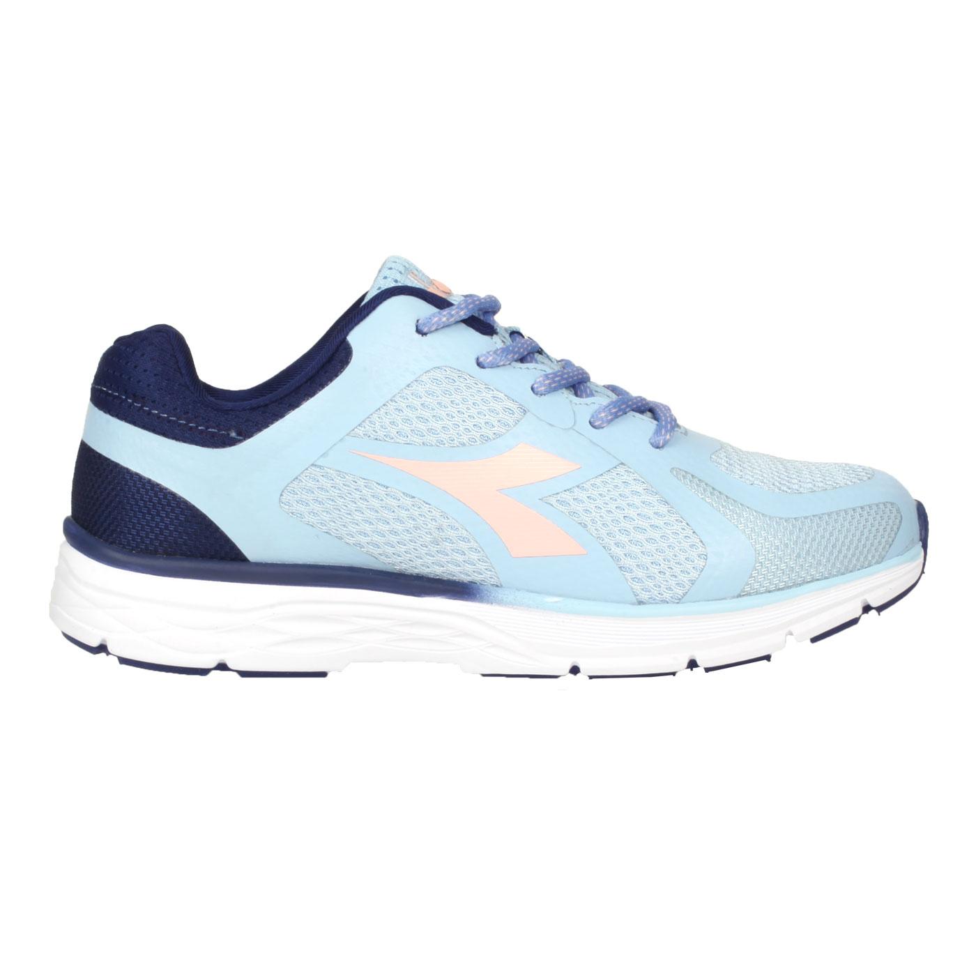 DIADORA 女款輕量慢跑鞋-寬楦 DA33613 - 粉藍丈青