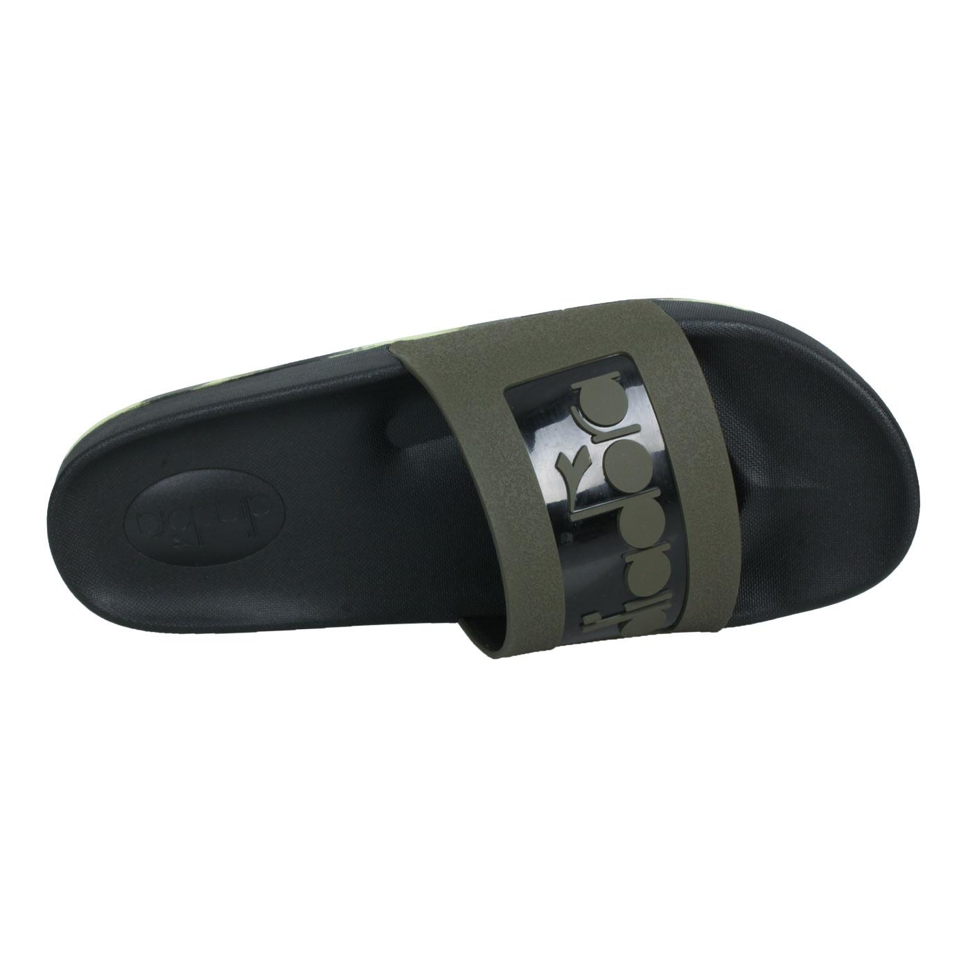 DIADORA 男款運動拖鞋 DA71168 - 黑軍綠