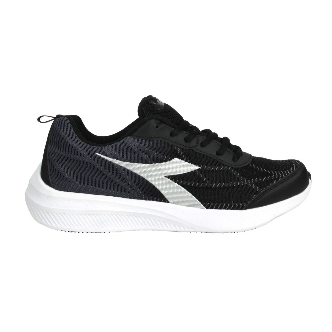 DIADORA 男款專業輕量慢跑鞋 DA71170 - 黑銀