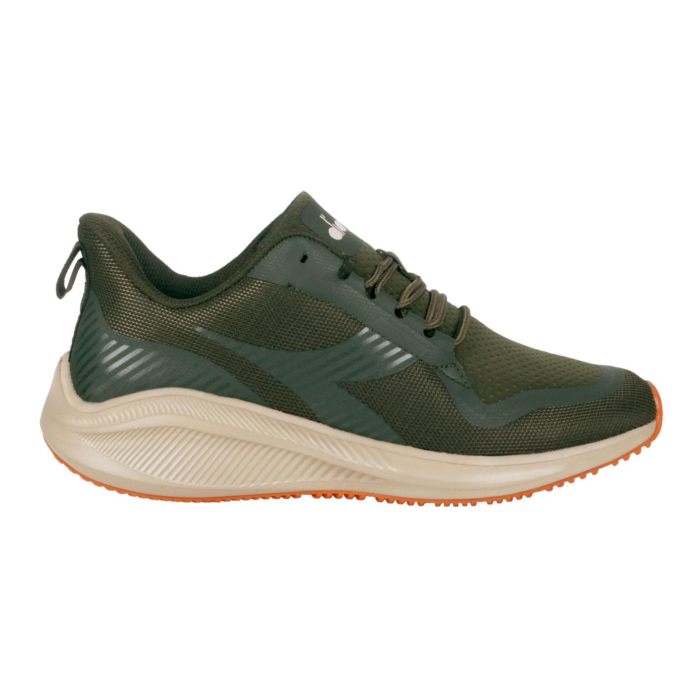 DIADORA 男款運動生活時尚運動鞋 DA71183 - 軍綠橘