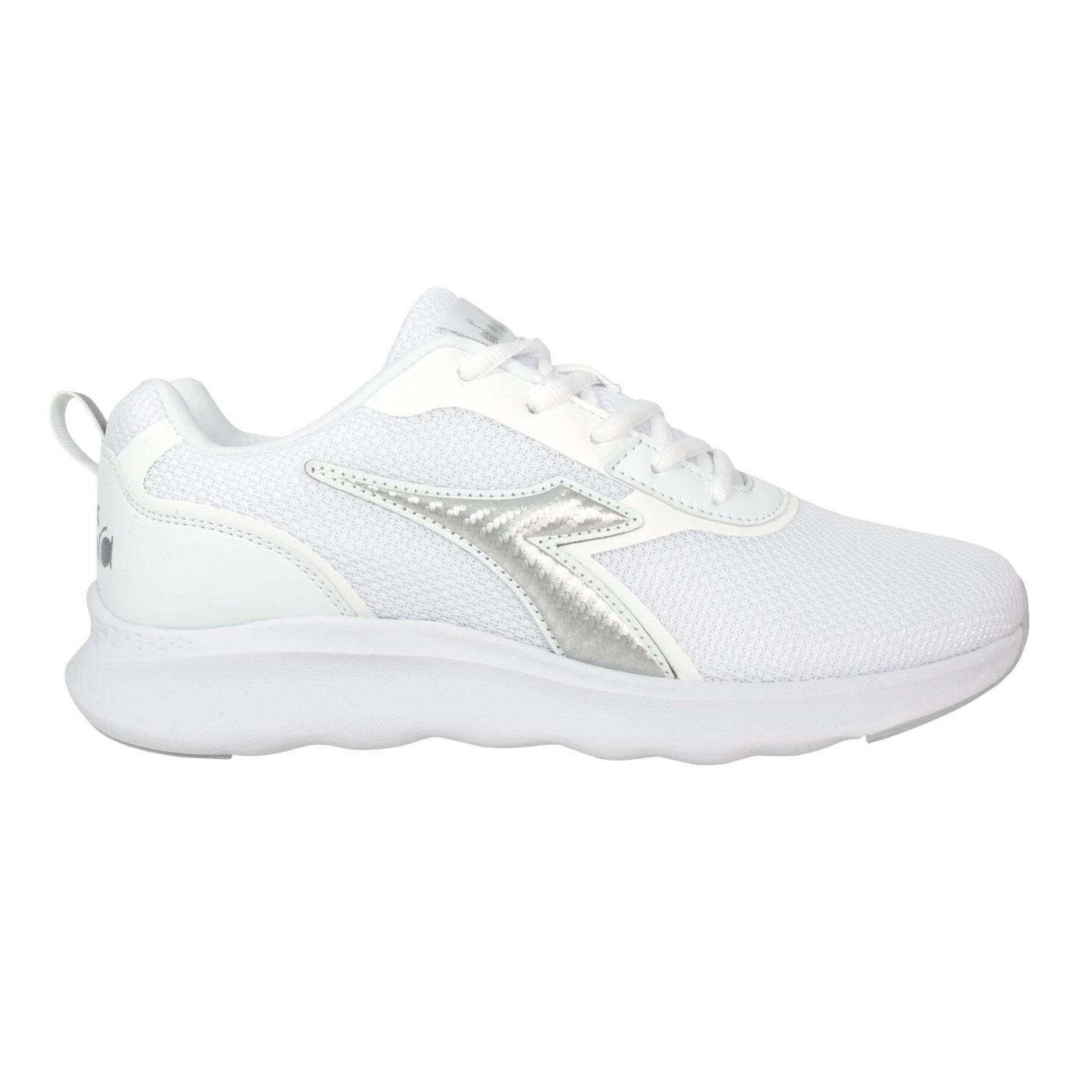 DIADORA 男段運動鞋 DA71186 - 白銀
