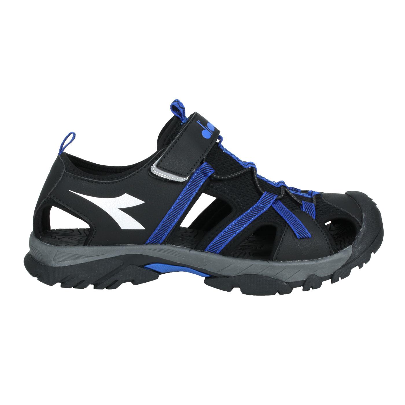 DIADORA 男款護趾運動涼鞋 DA71196 - 黑藍銀