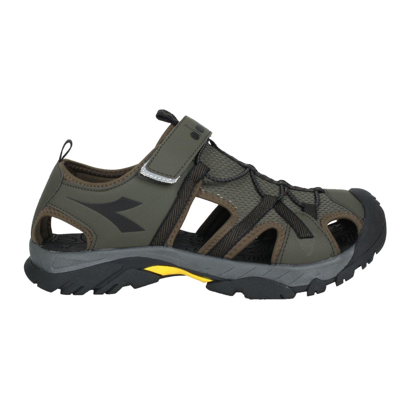 DIADORA 男款護趾運動涼鞋 DA71197 - 軍綠黑