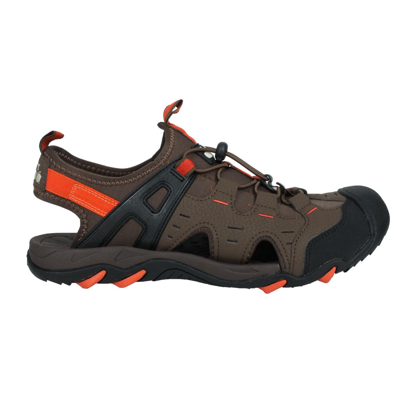 DIADORA 男款護趾運動涼鞋 DA71200 - 黑棕橘