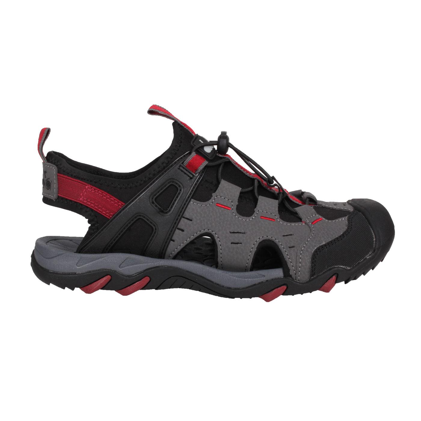 DIADORA 男款護趾運動涼鞋 DA71201 - 灰黑紅