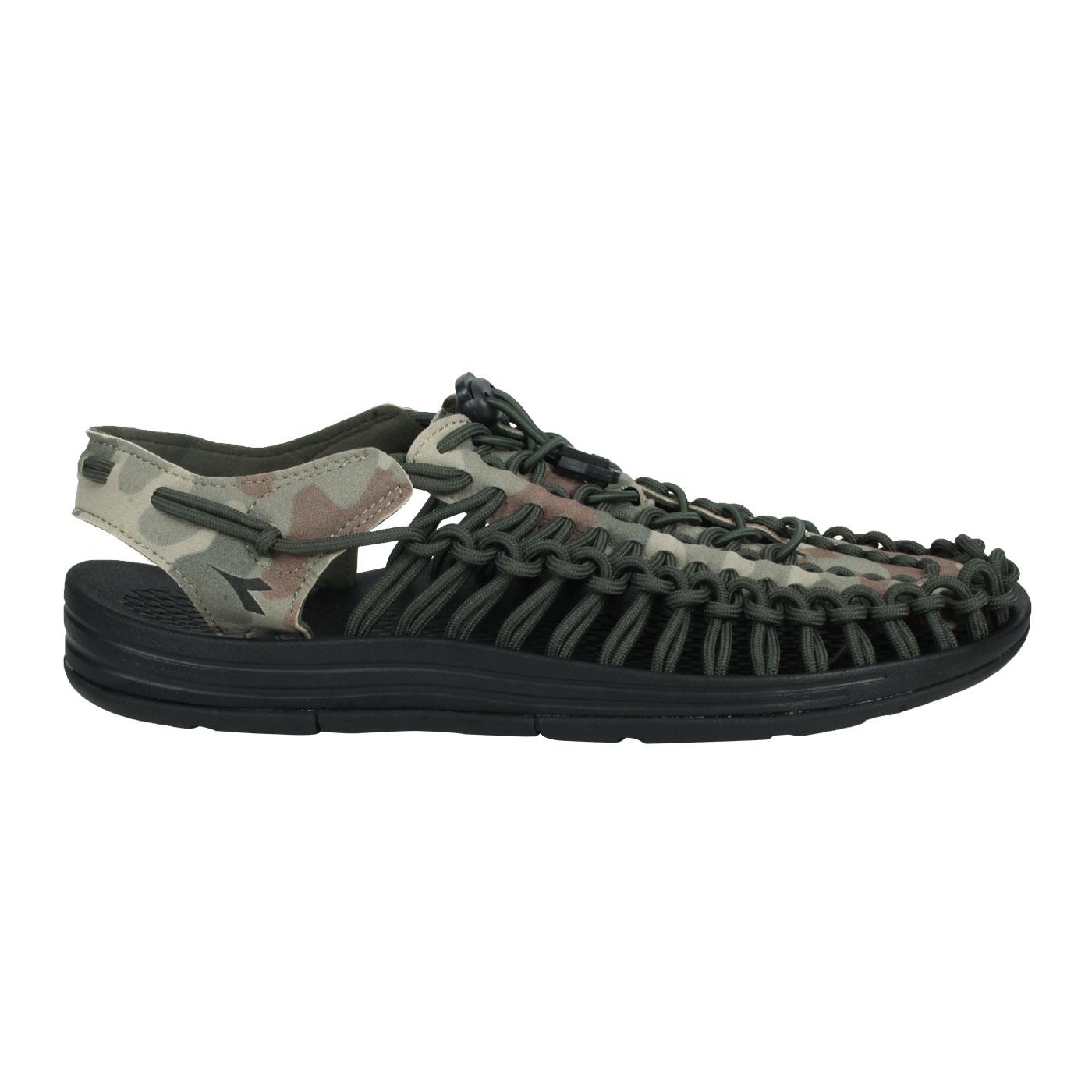 DIADORA 男款編織涼鞋 DA71205 - 黑迷彩綠