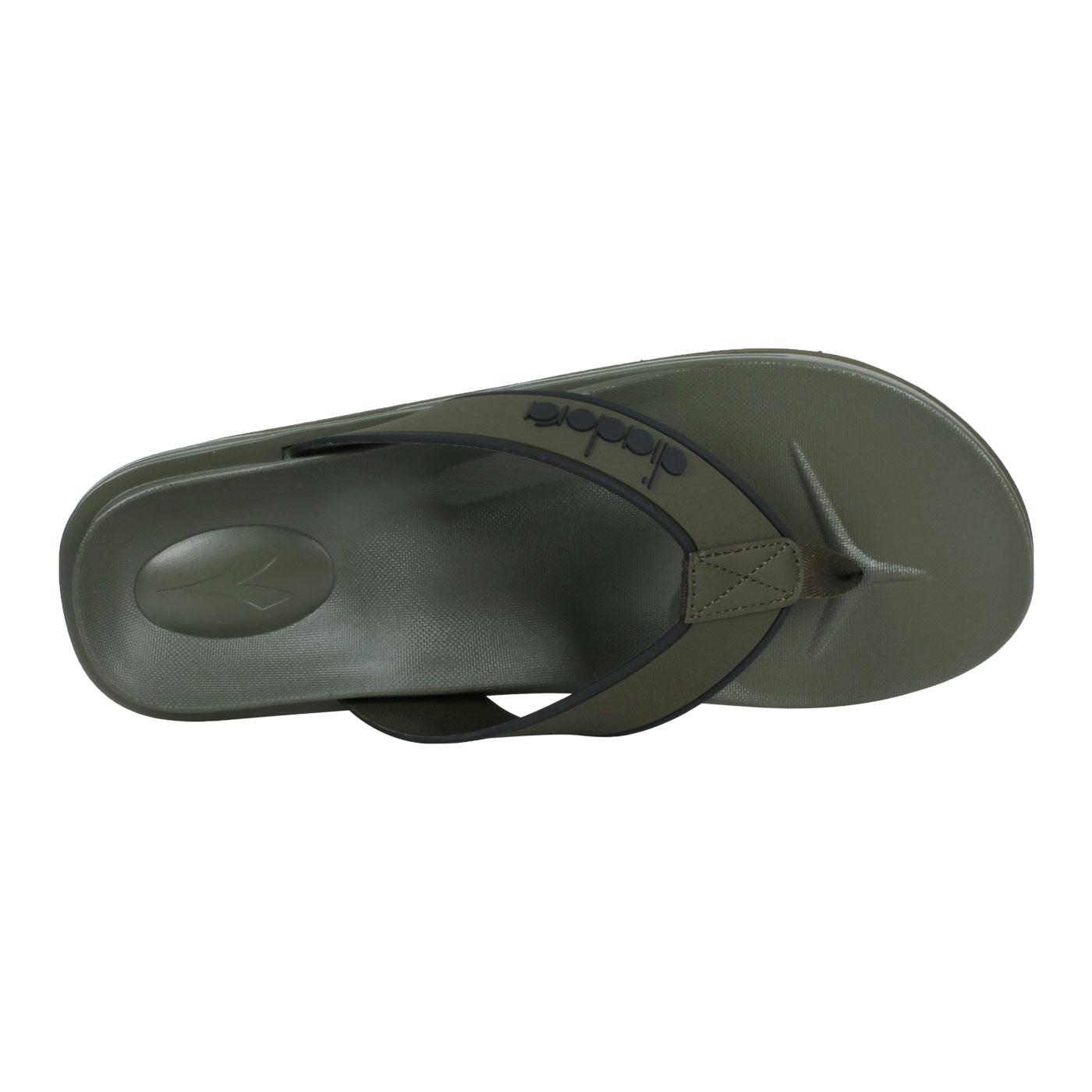 DIADORA 男款拖鞋 DA71208 - 軍綠黑