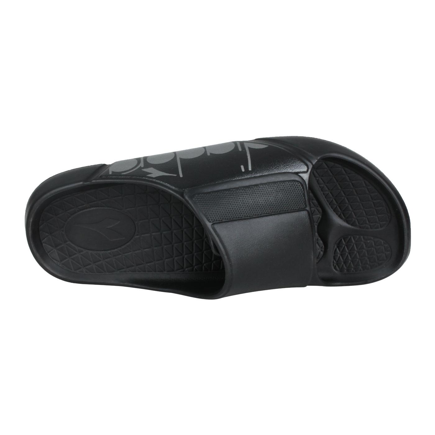 DIADORA 男款MIT拖鞋 DA71219 - 黑銀