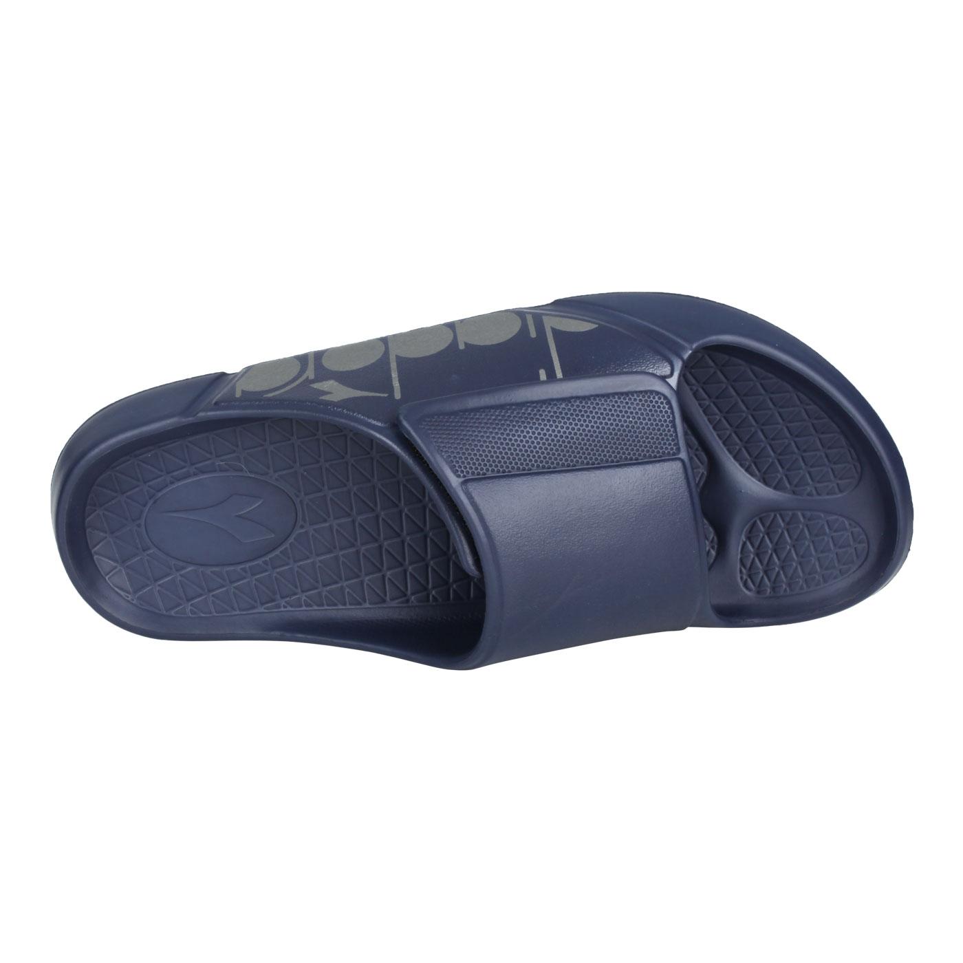 DIADORA 男款MIT拖鞋 DA71220 - 丈青銀
