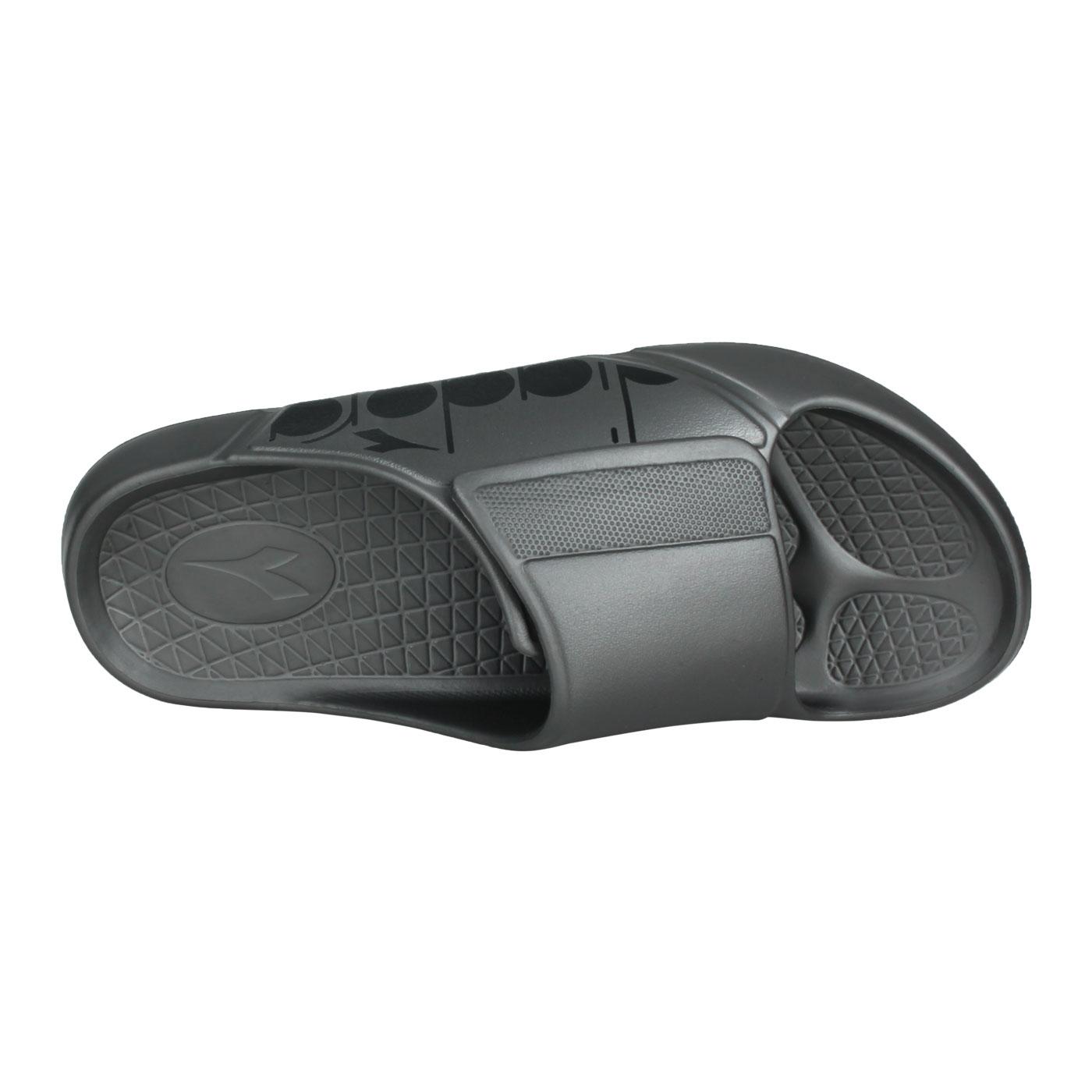DIADORA 男款MIT拖鞋 DA71221 - 鐵灰黑
