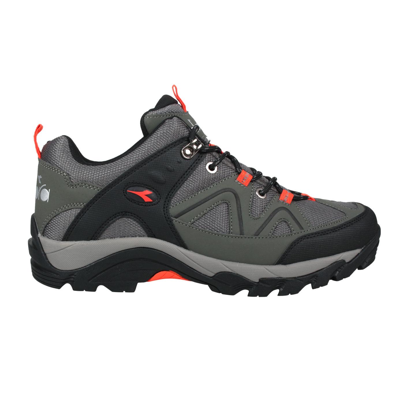 DIADORA 男款戶外運動鞋 DA73153 - 灰綠螢光橘