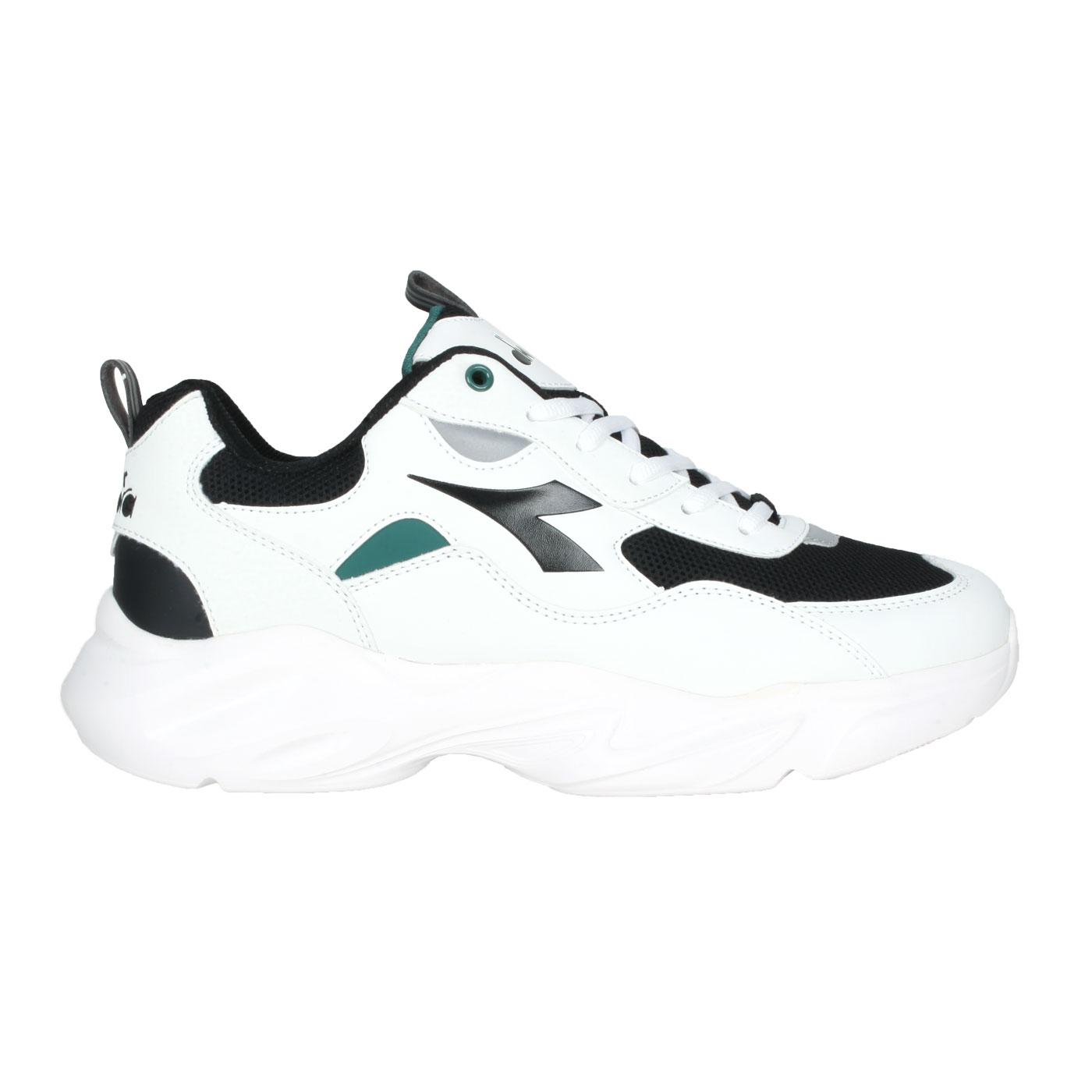 DIADORA 男款運動生活時尚鞋-寬楦  DA73162 - 白黑綠