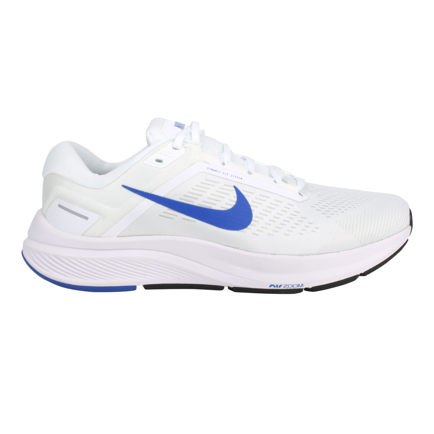 NIKE 男款休閒慢跑鞋  @AIR ZOOM STRUCTURE 24@DA8535-100 - 白藍