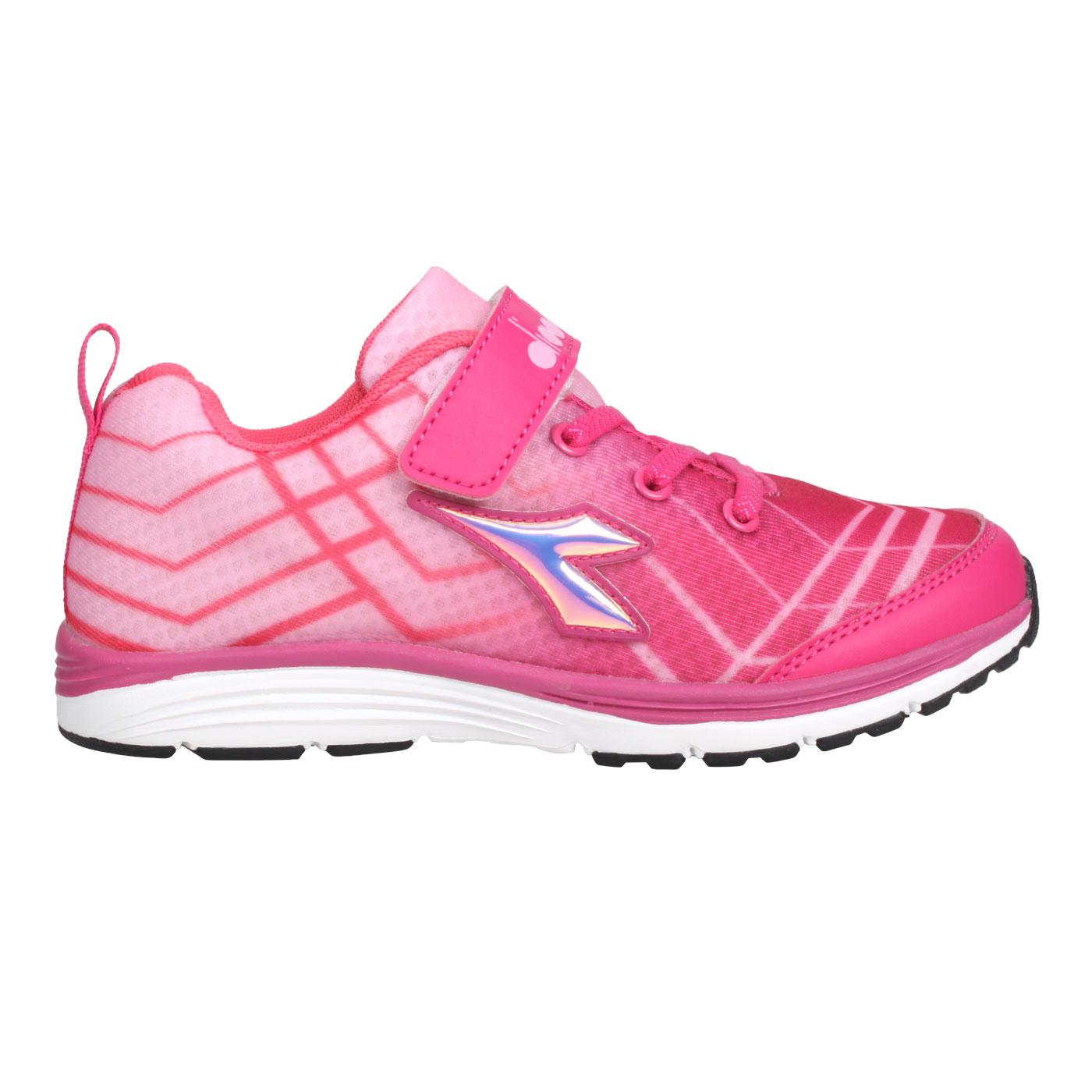 DIADORA 中童慢跑鞋-超寬楦 DA9AKR5793 - 桃紅白