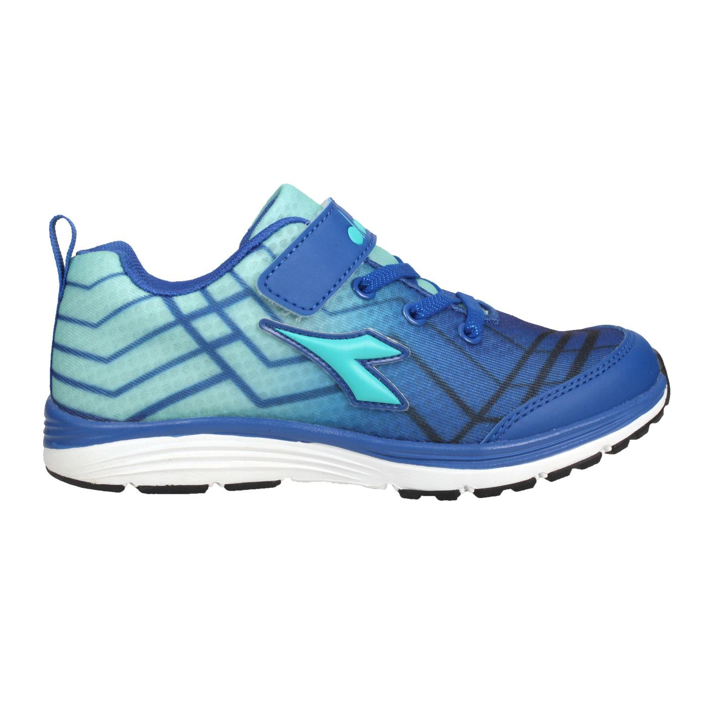 DIADORA 中童慢跑鞋-超寬楦 DA9AKR5796 - 藍湖水綠