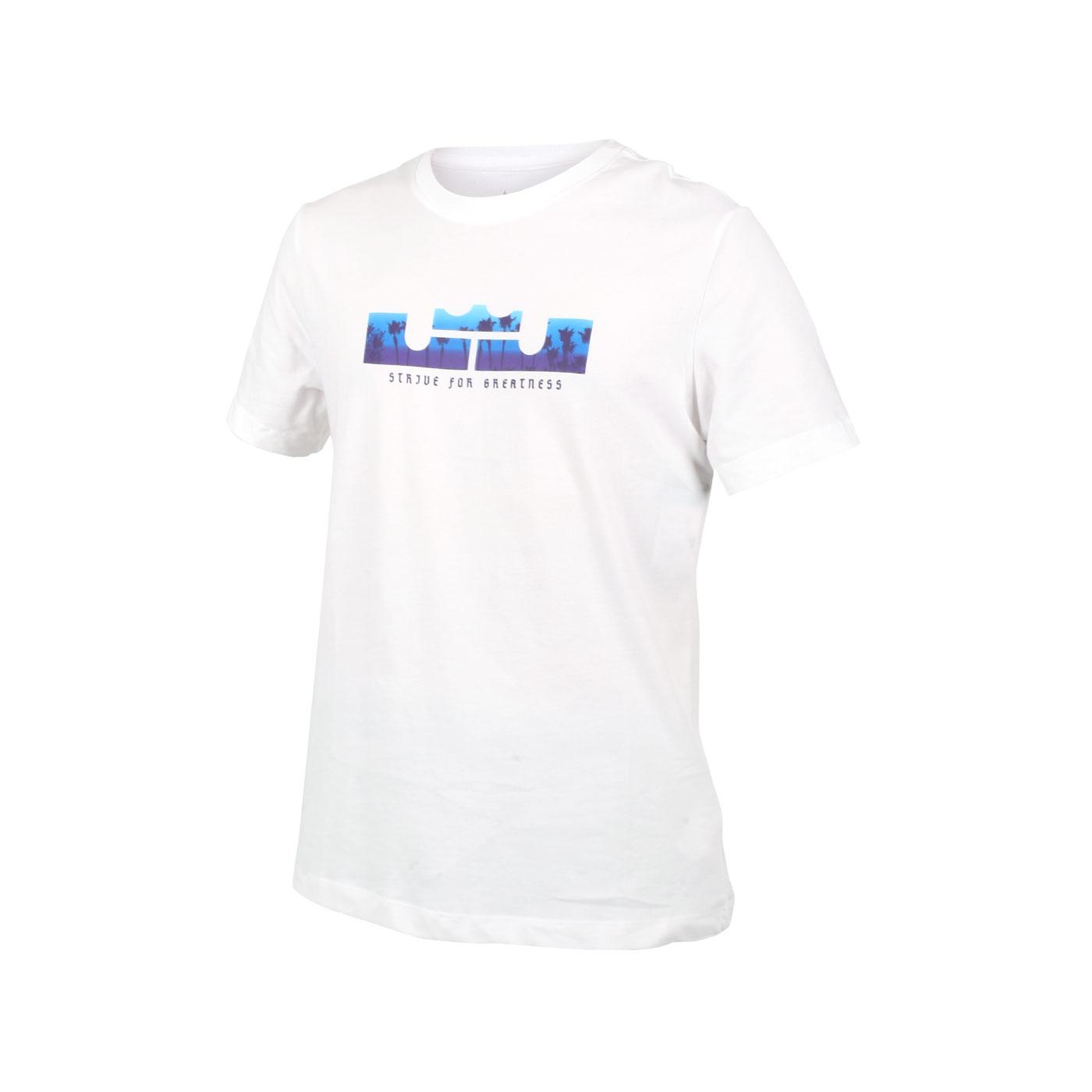 NIKE 男款短袖T恤 DB6179-100 - 白藍