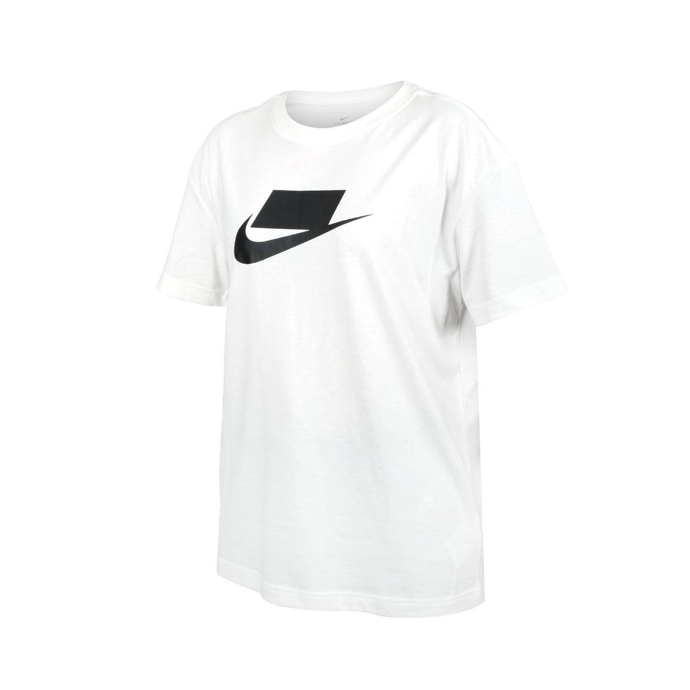 NIKE 女款短袖T恤 DB9828-100 - 白黑