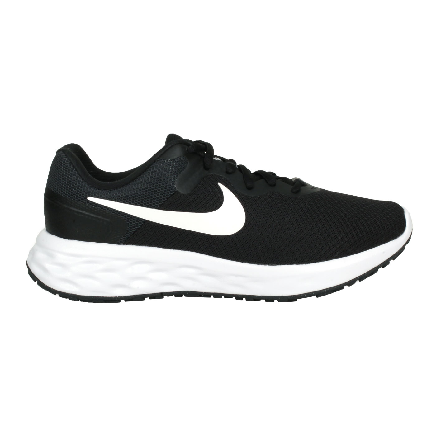 NIKE 女款運動鞋  @W REVOLUTION 6 NN@DC3729-003 - 黑白綠