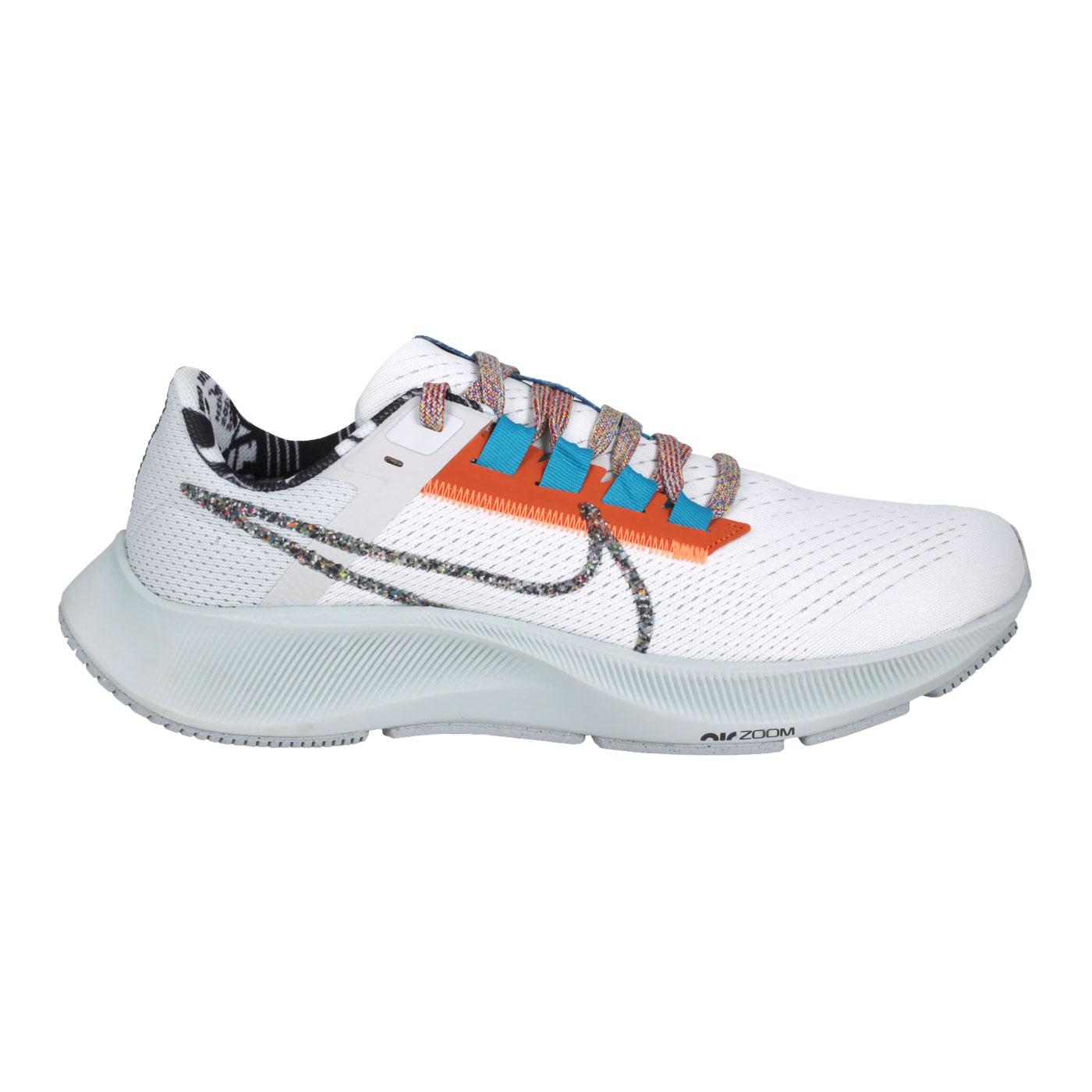 NIKE 男款慢跑鞋  @AIR ZOOM PEGASUS 38 MFS@DC4520-100 - 白黑橘藍