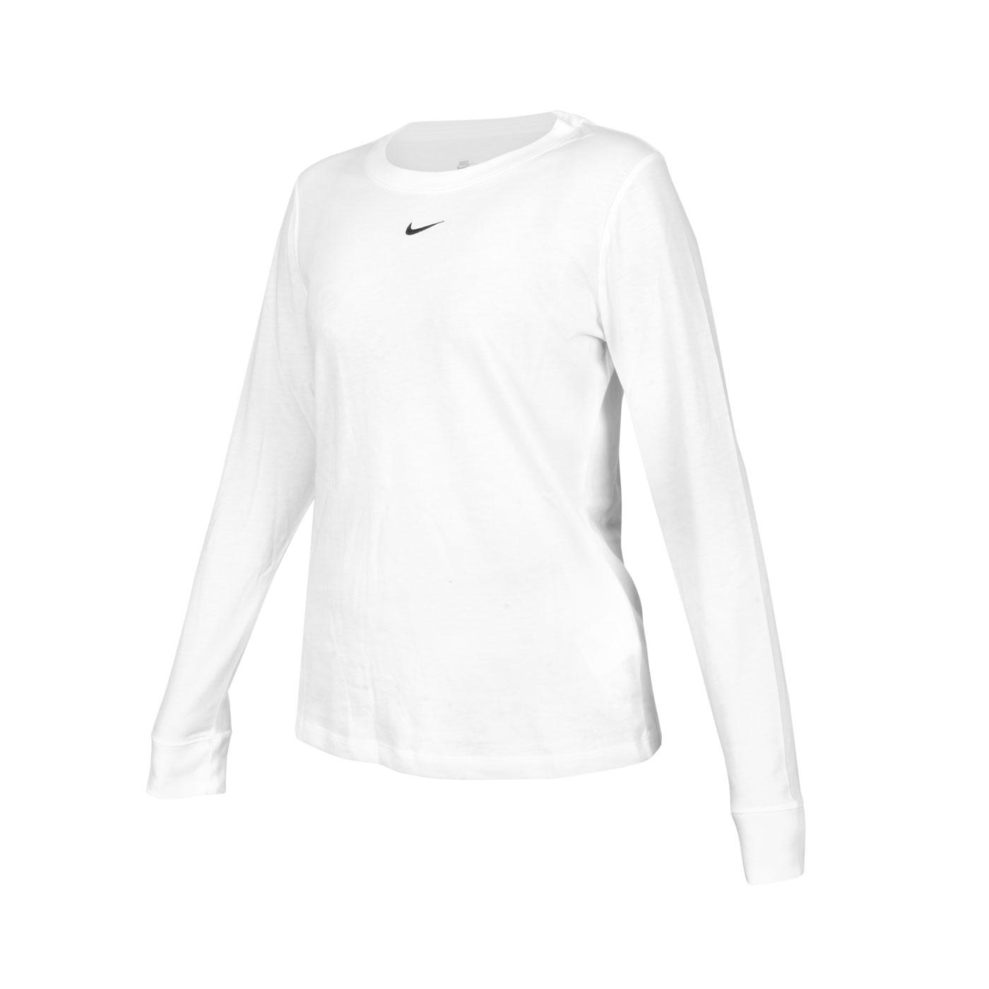 NIKE 女款長袖T恤 DC9834-100 - 白黑