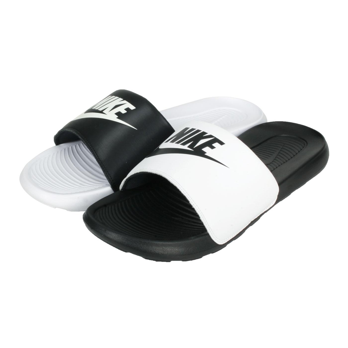 NIKE 男款休閒拖鞋  @VICTORI ONE SLIDE MIX@DD0234-100 - 黑白