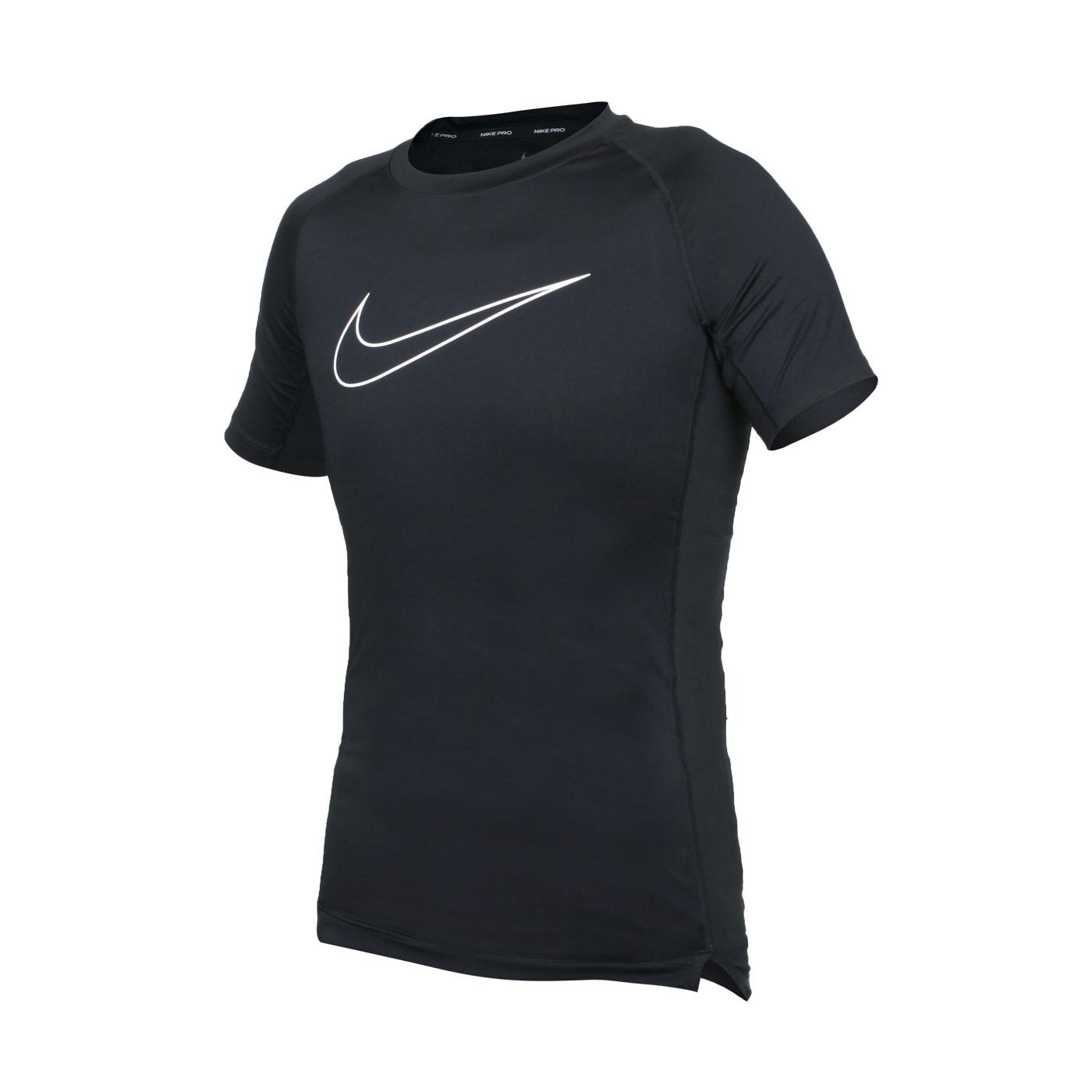 NIKE 男款緊身短袖T恤 DD1993-010 - 黑白