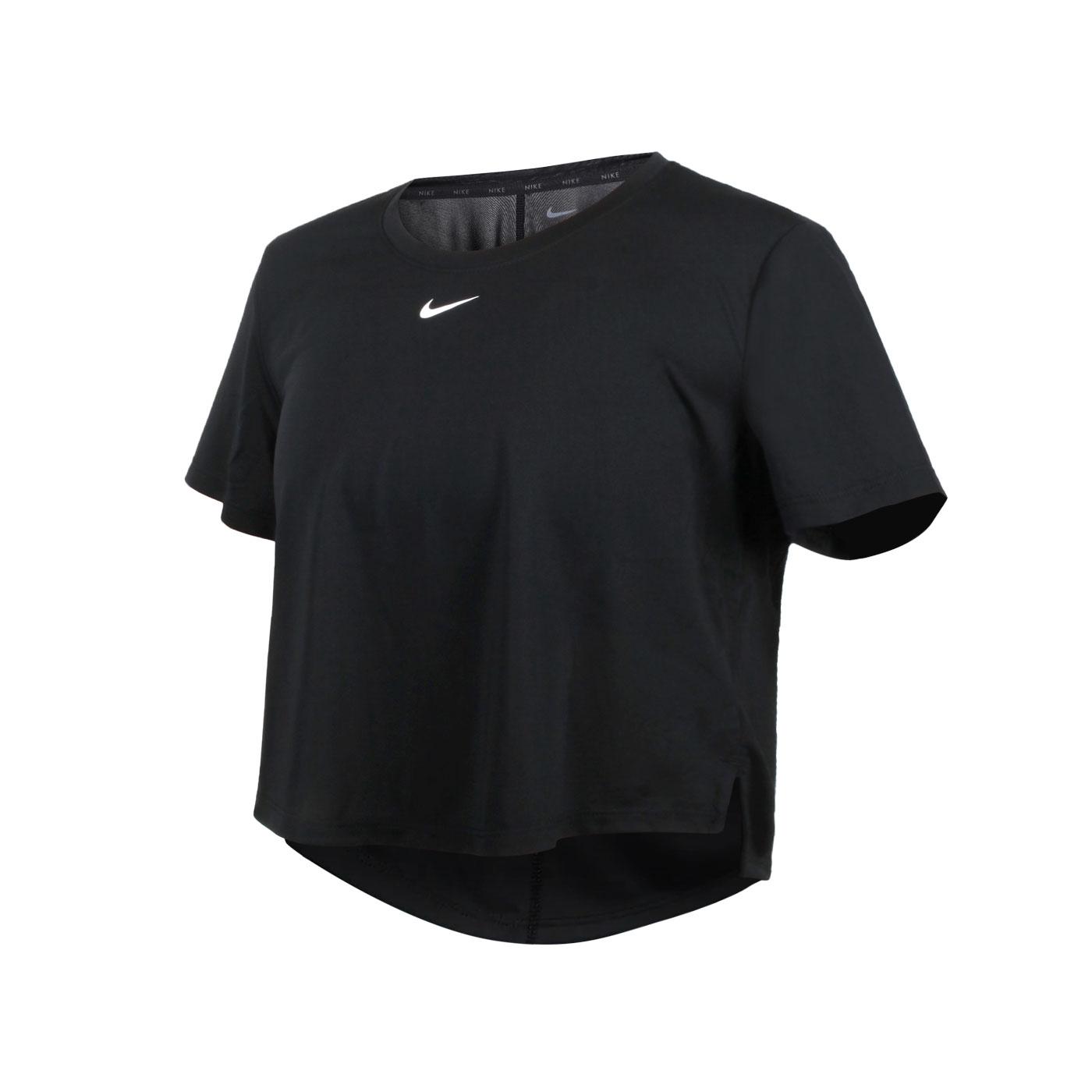 NIKE 女款短版短袖T恤 DD4955-010 - 黑白
