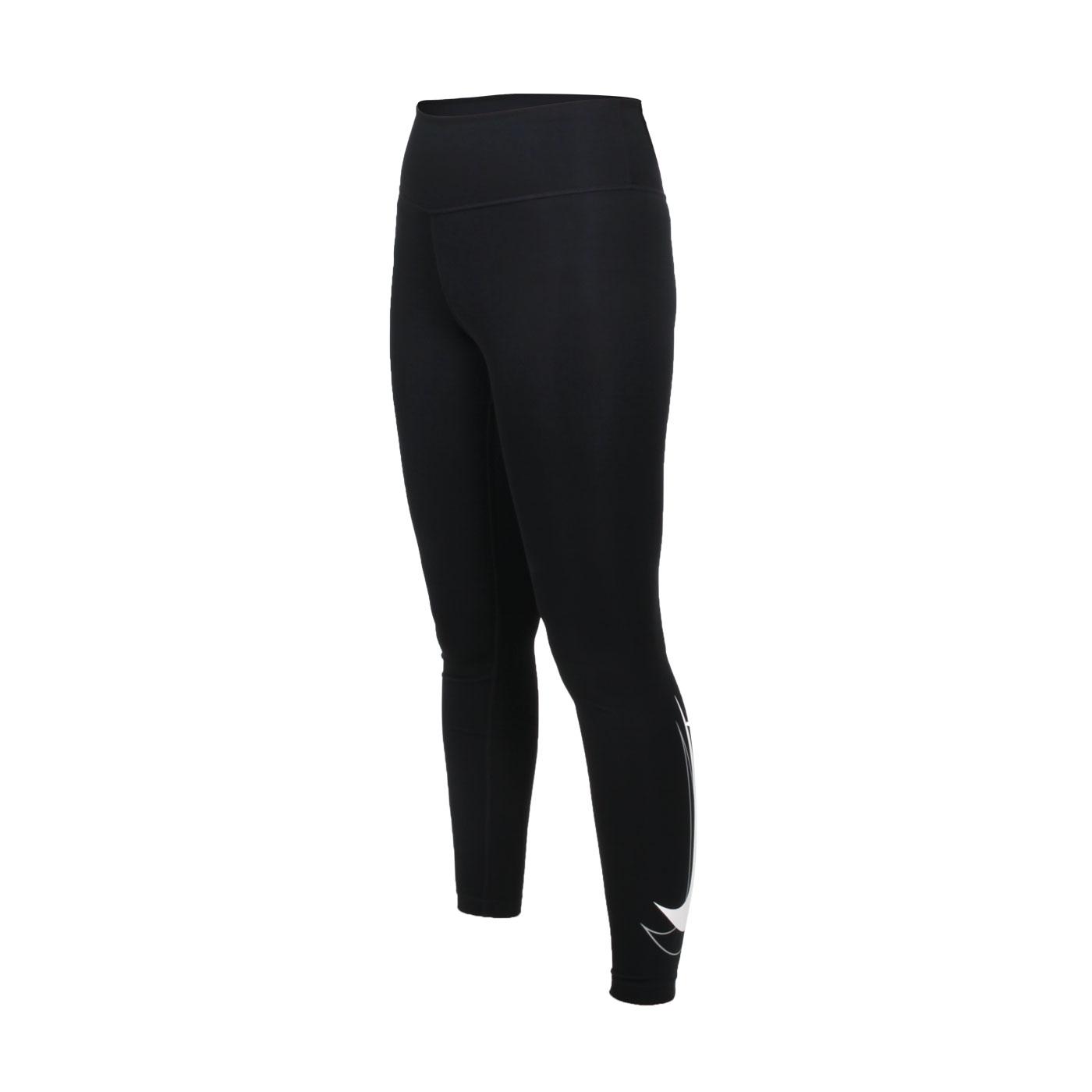 NIKE 女款緊身長褲 DD5280-010 - 黑白