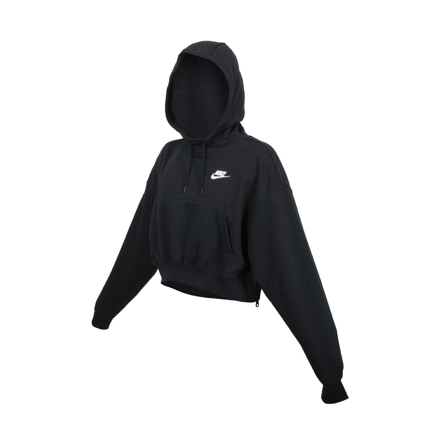 NIKE 女款連帽長袖T恤 DD5382-010 - 黑白