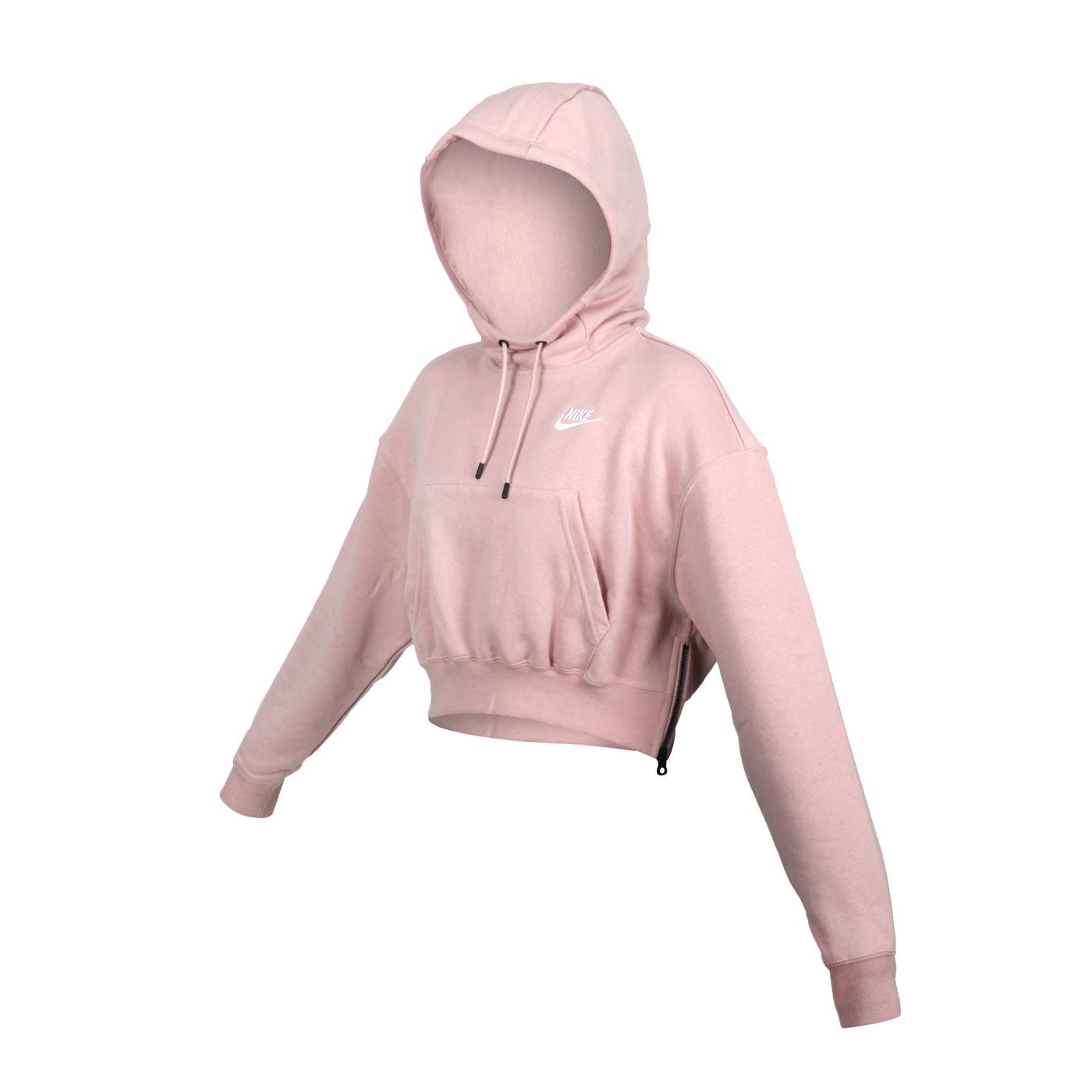 NIKE 女款連帽圓領長袖T恤 DD5382-601 - 粉紅白