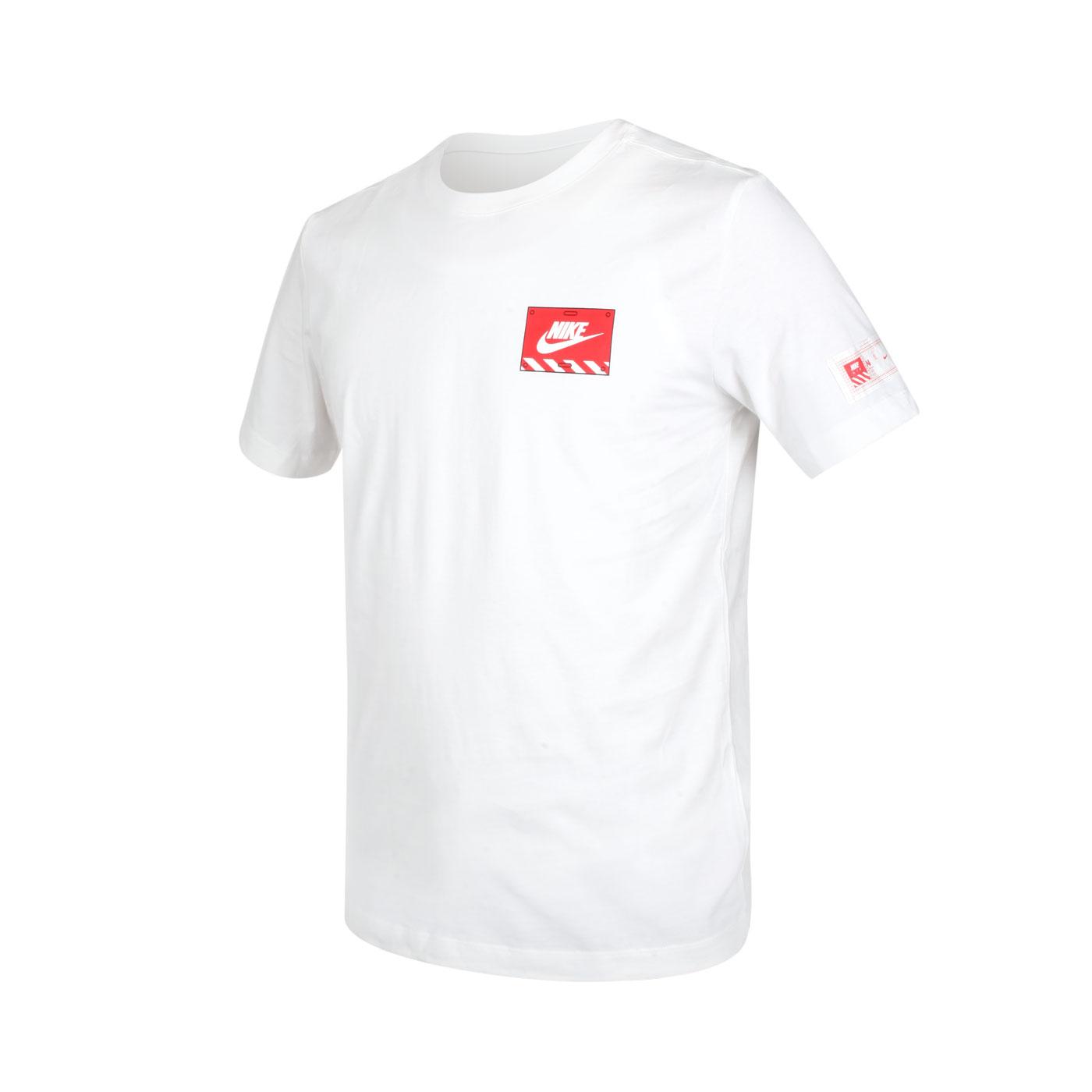 NIKE 男款短袖T恤 DJ1398-100 - 白紅