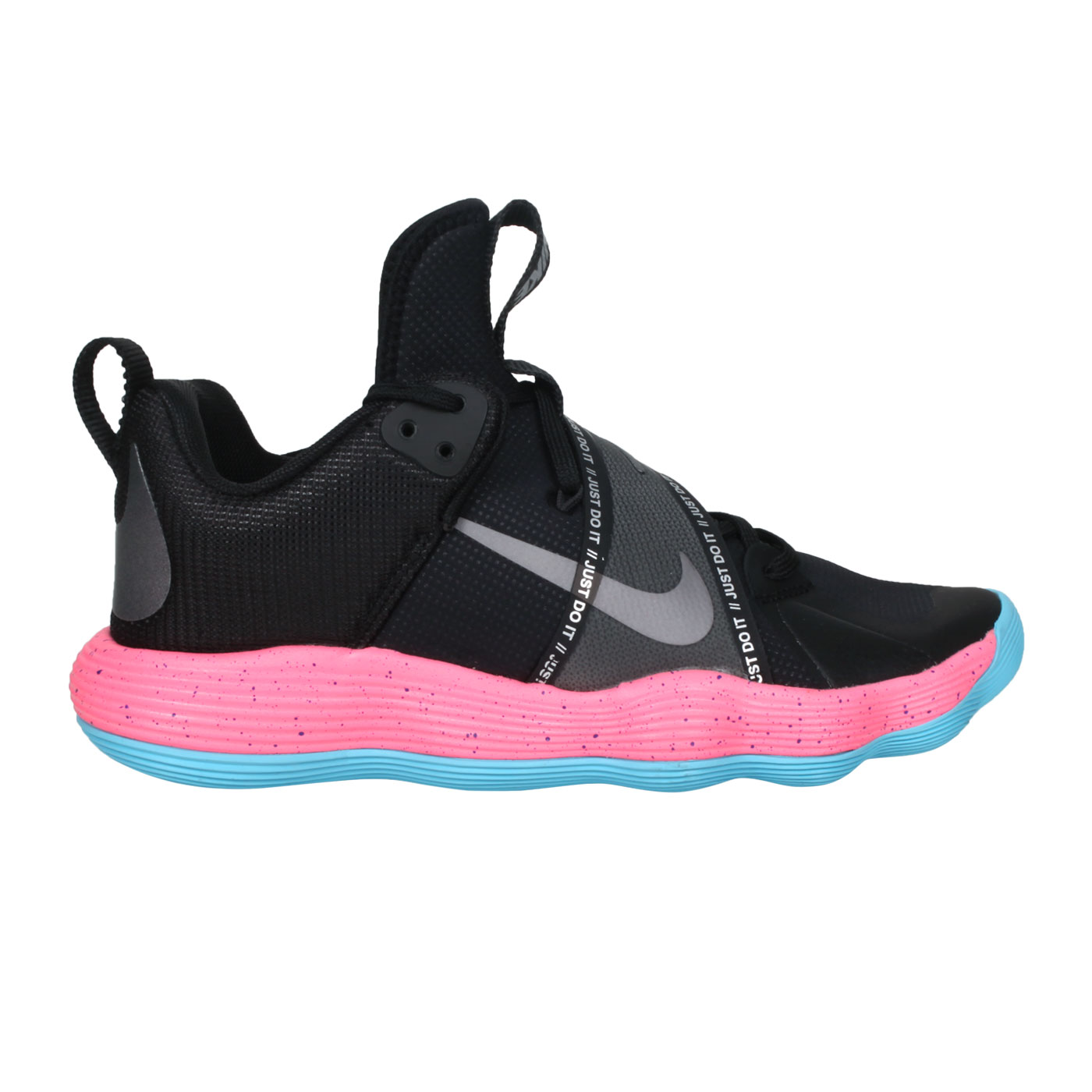 NIKE 男款排球鞋  @REACT HYPERSET SE@DJ4473064 - 黑藍粉