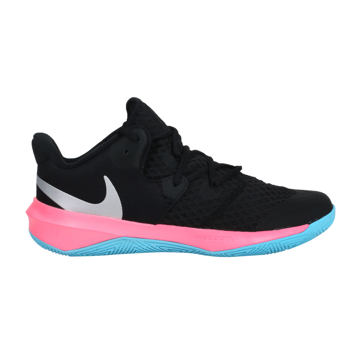 NIKE 排球鞋  @ZOOM HYPERSPEED COURT SE@DJ4476064 - 黑銀粉紅藍
