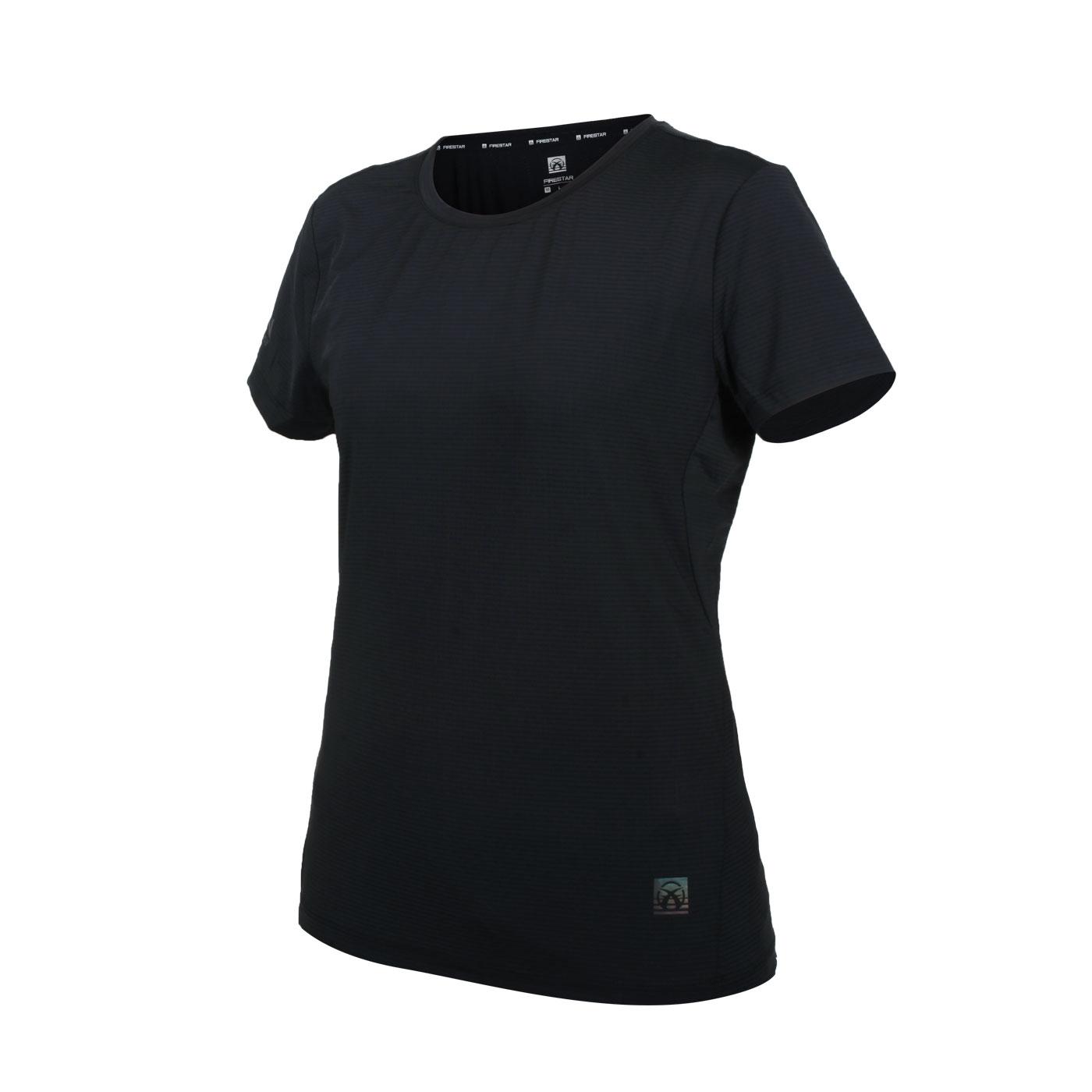 FIRESTAR 女款彈性機能圓領短袖T恤 DL161-10 - 黑
