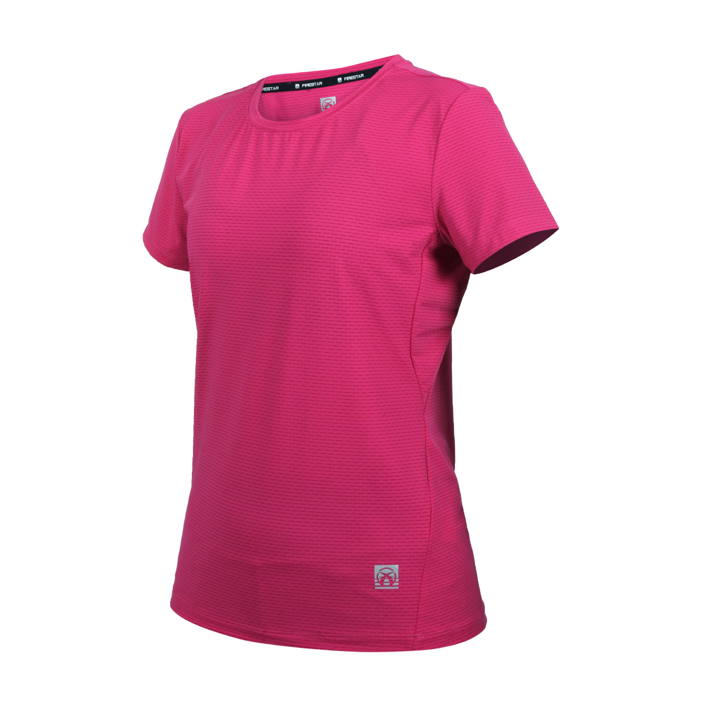 FIRESTAR 女款彈性機能圓領短袖T恤 DL161-47 - 桃紅