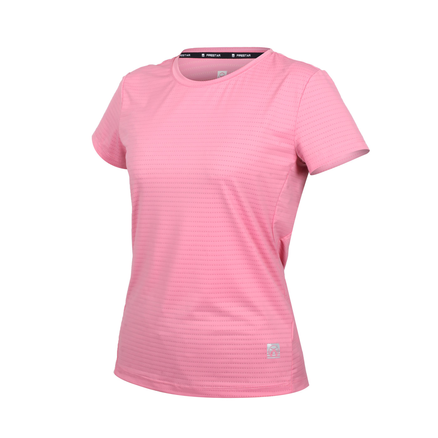 FIRESTAR 女款彈性機能圓領短袖T恤 DL162-43 - 粉紅