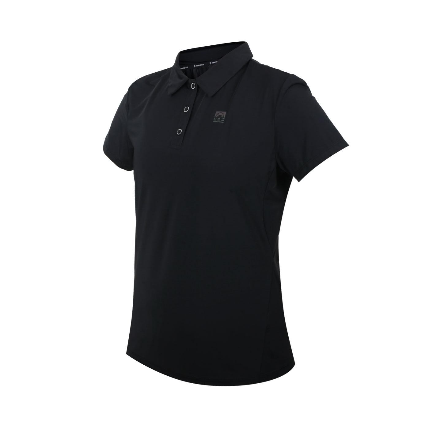 FIRESTAR 女款彈性機能短袖POLO衫 DL168-10 - 黑銀