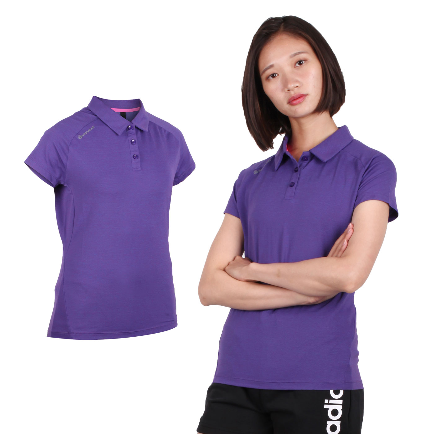 FIRESTAR 女款彈性短袖POLO衫 DL966-18 - 紫
