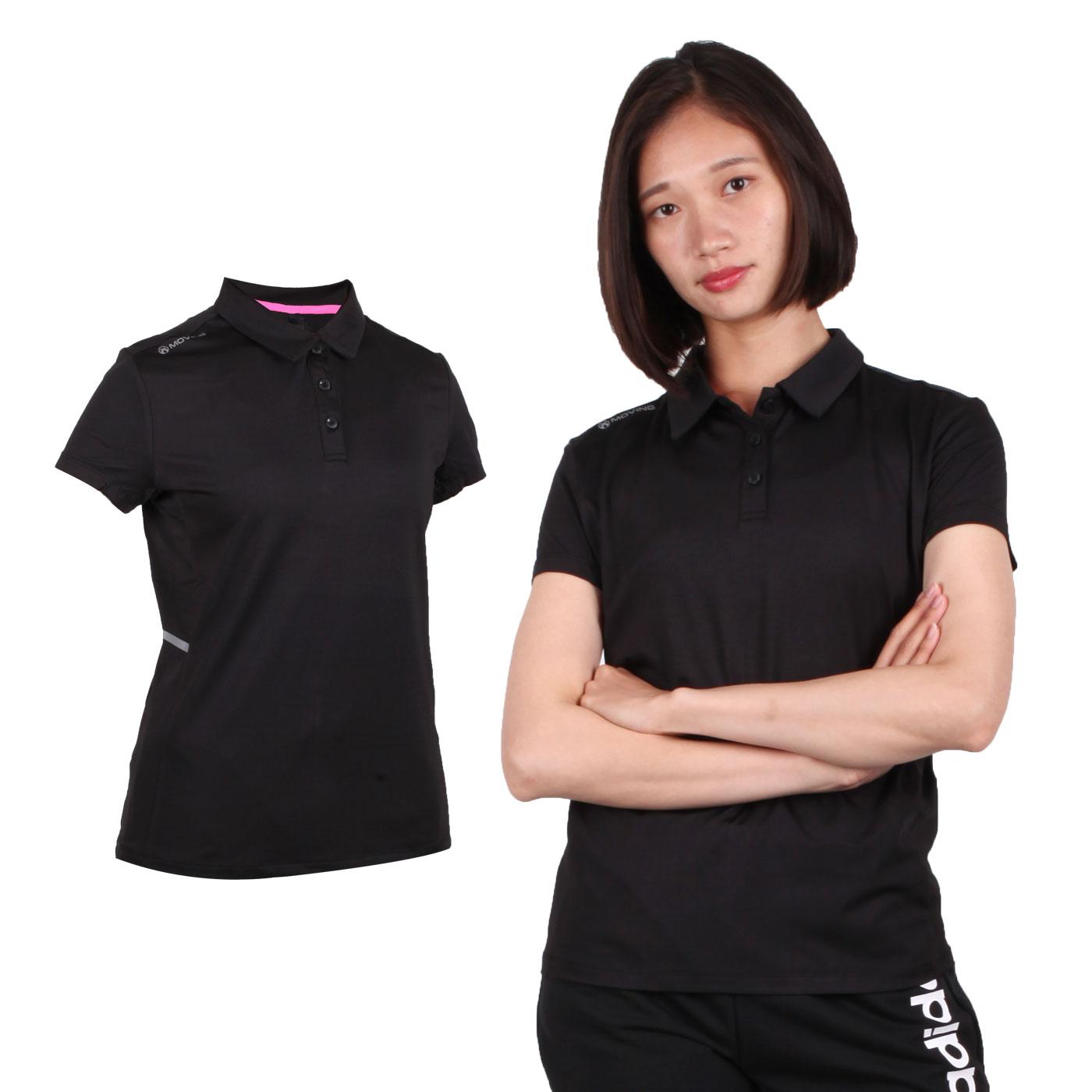 FIRESTAR 女款彈性短袖POLO衫 DL967-10 - 黑